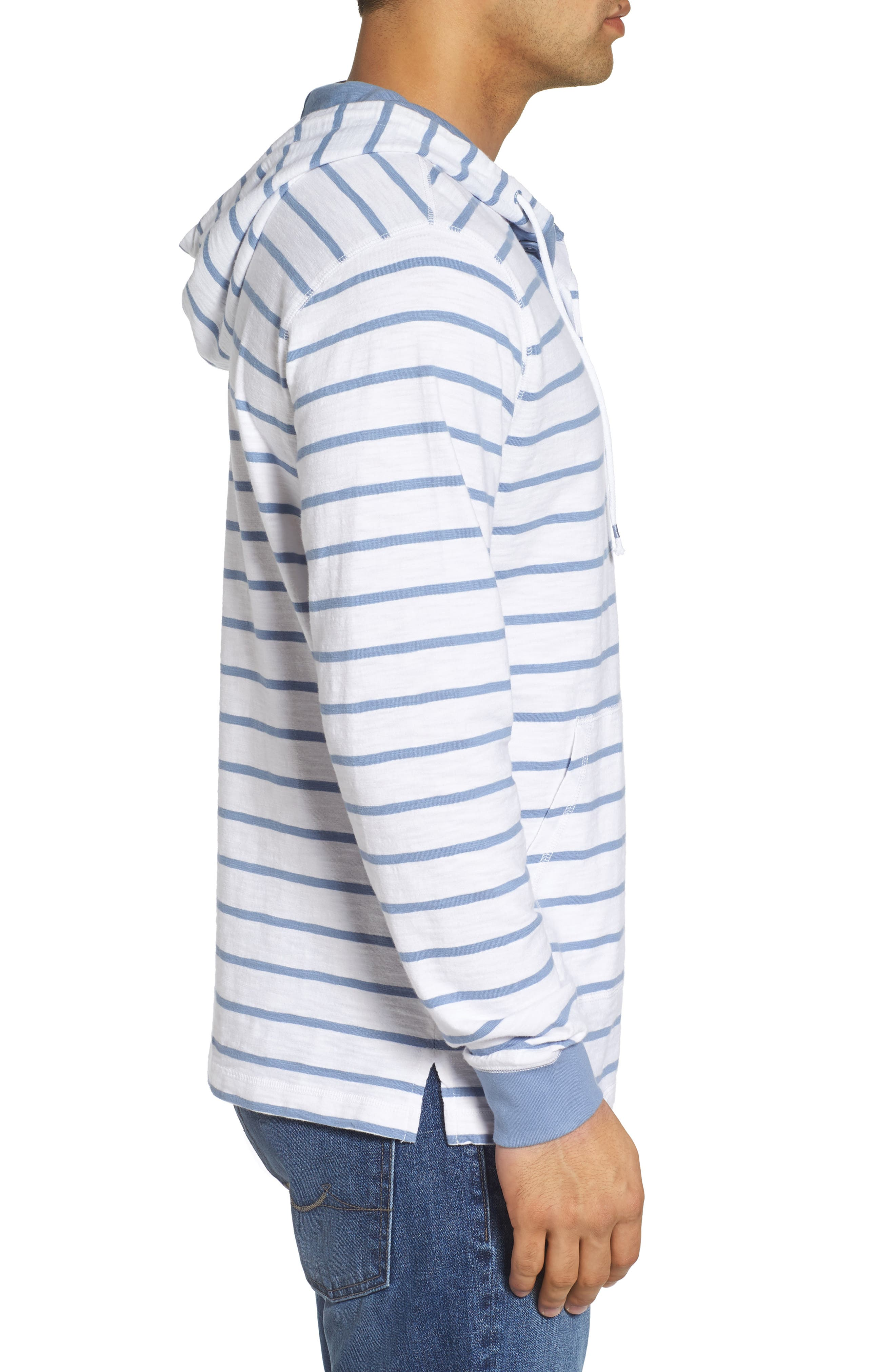 Ocean Course Slub Cotton Hoodie,                             Alternate thumbnail 3, color,                             Squall Grey