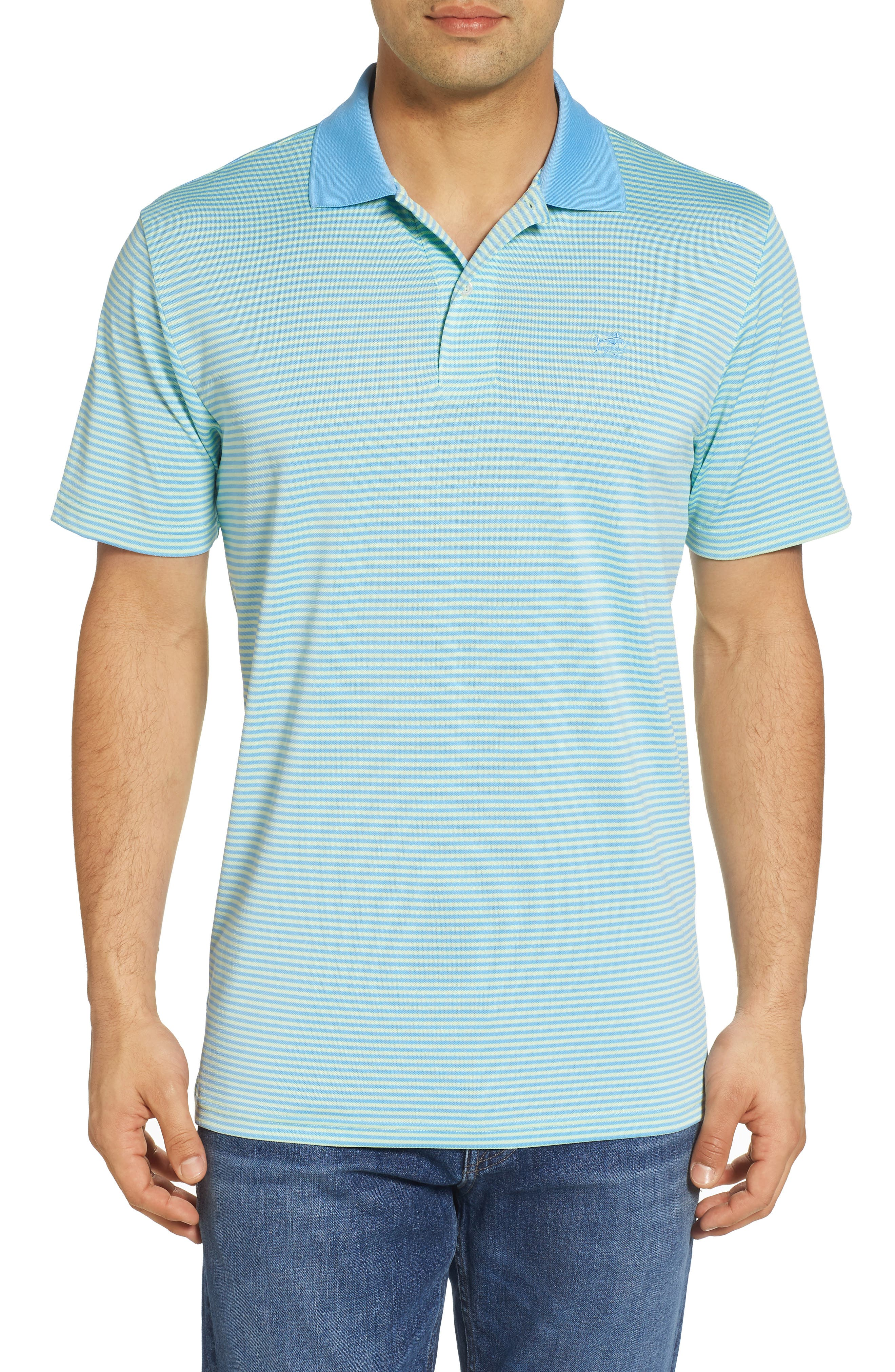 Regular Fit Stripe Stretch Polo,                         Main,                         color, Lime