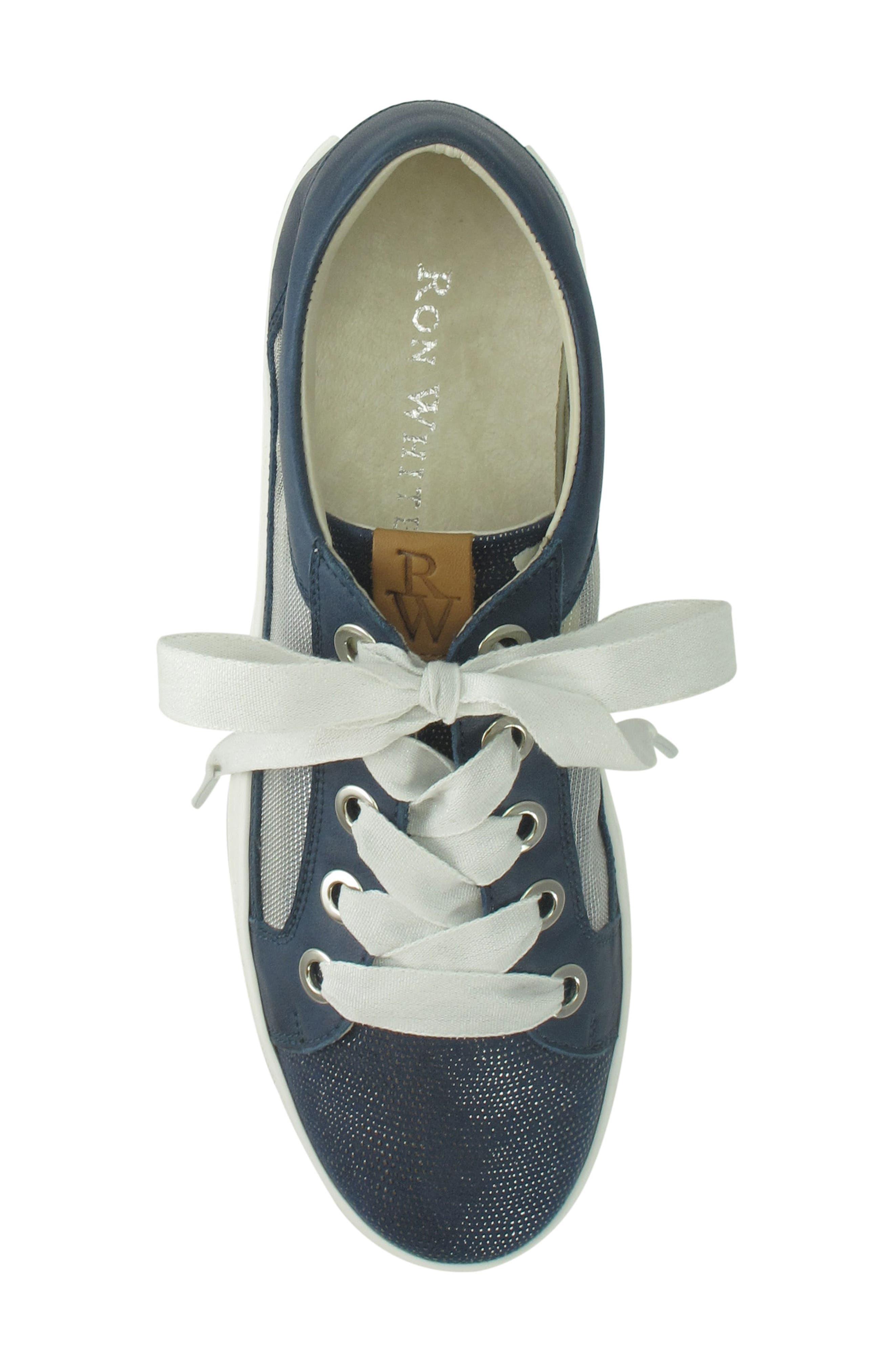 Layton Sneaker,                             Alternate thumbnail 5, color,                             Jeans Leather