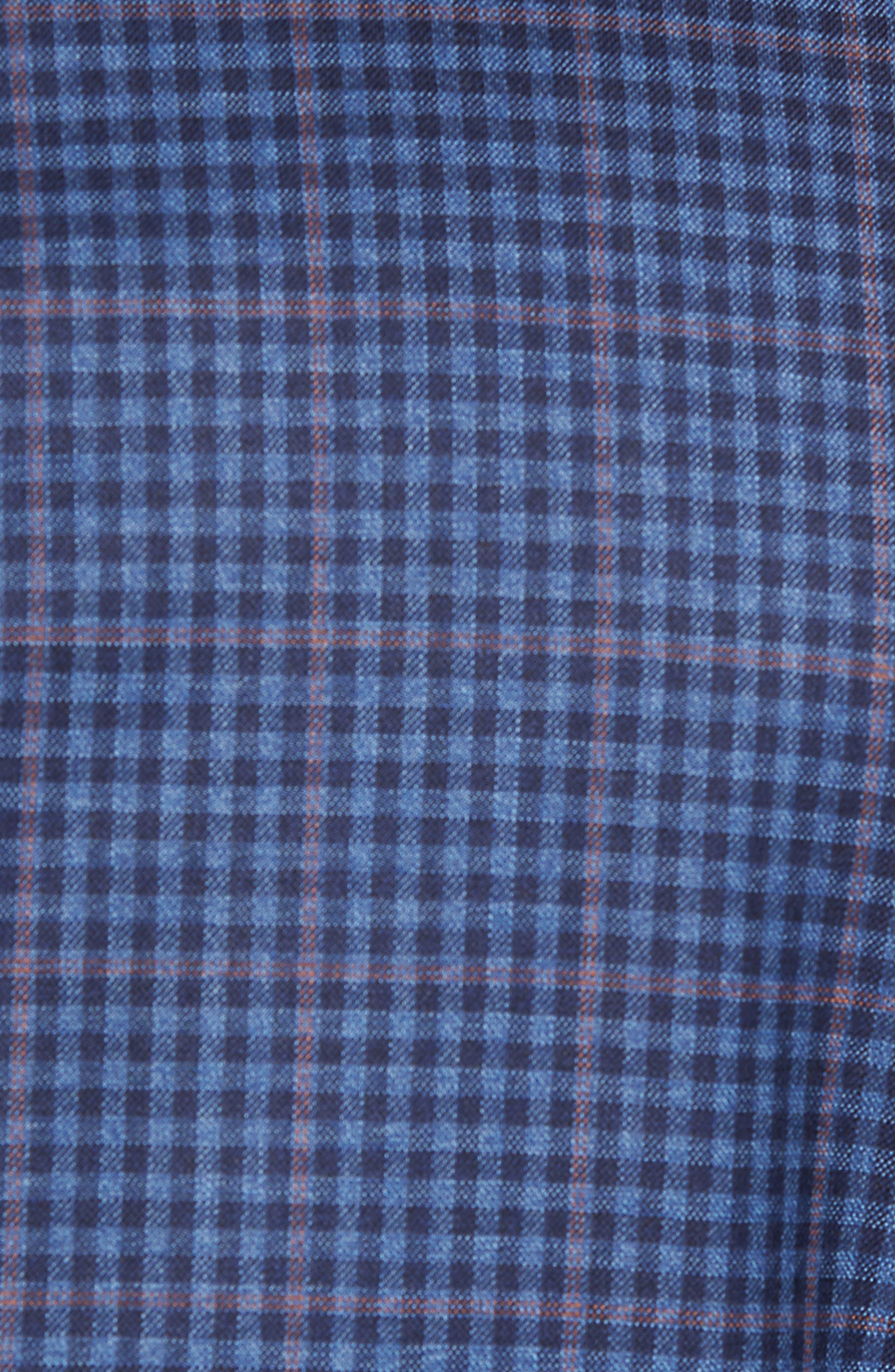 Classic B Fit Check Wool Sport Coat,                             Alternate thumbnail 5, color,                             Blue