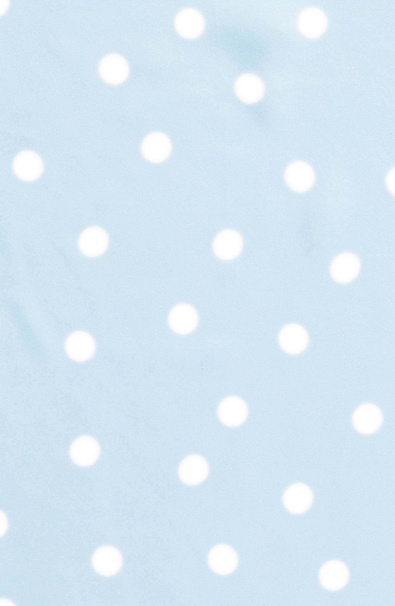 dancing dot silk bandana,                             Alternate thumbnail 4, color,                             Bayside Blue/ French Navy