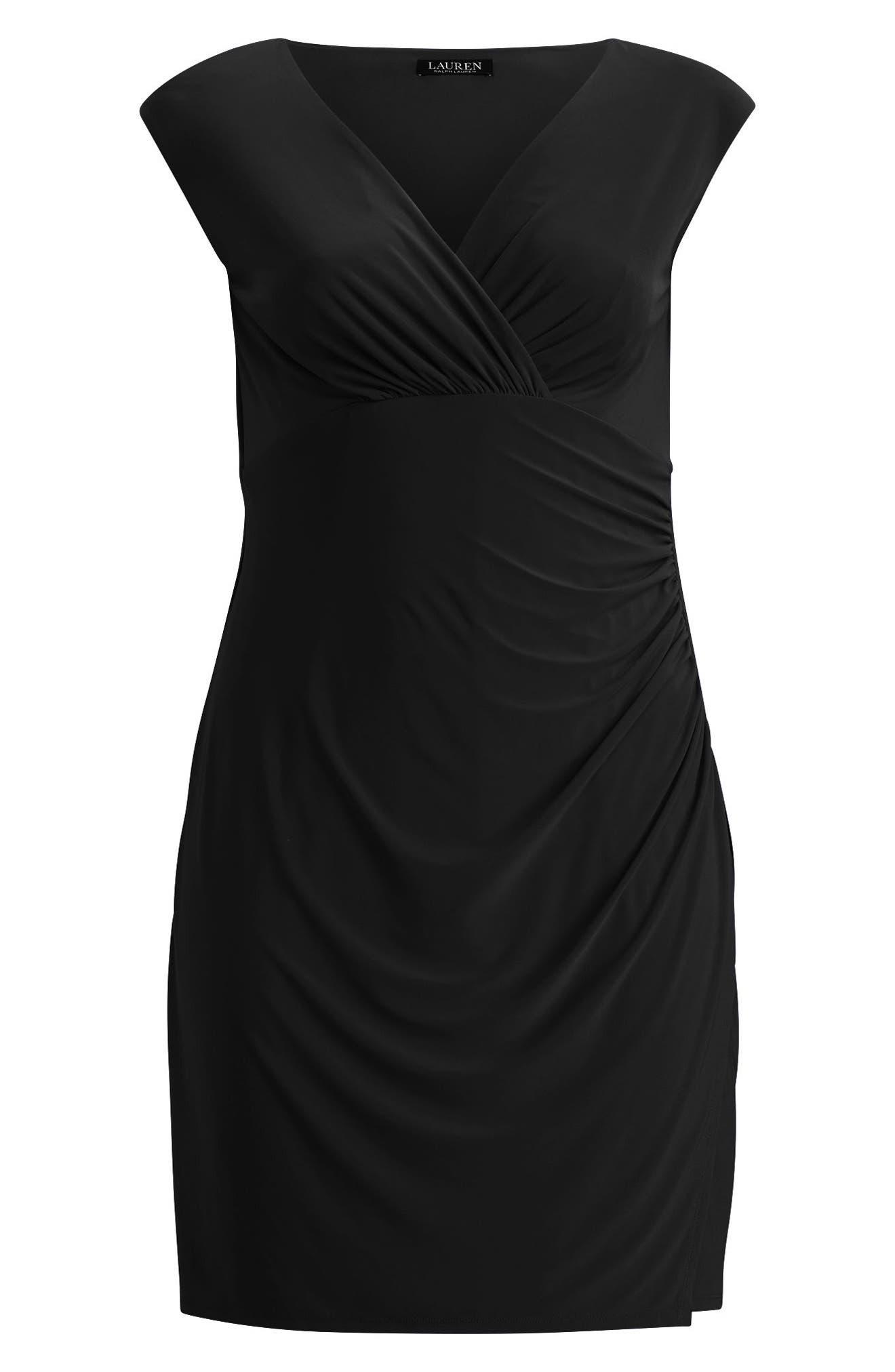 Adara Sheath Dress,                             Alternate thumbnail 3, color,                             Black