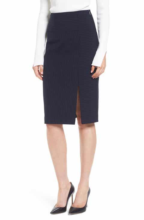 BOSS Vispana Pinstripe Suit Skirt