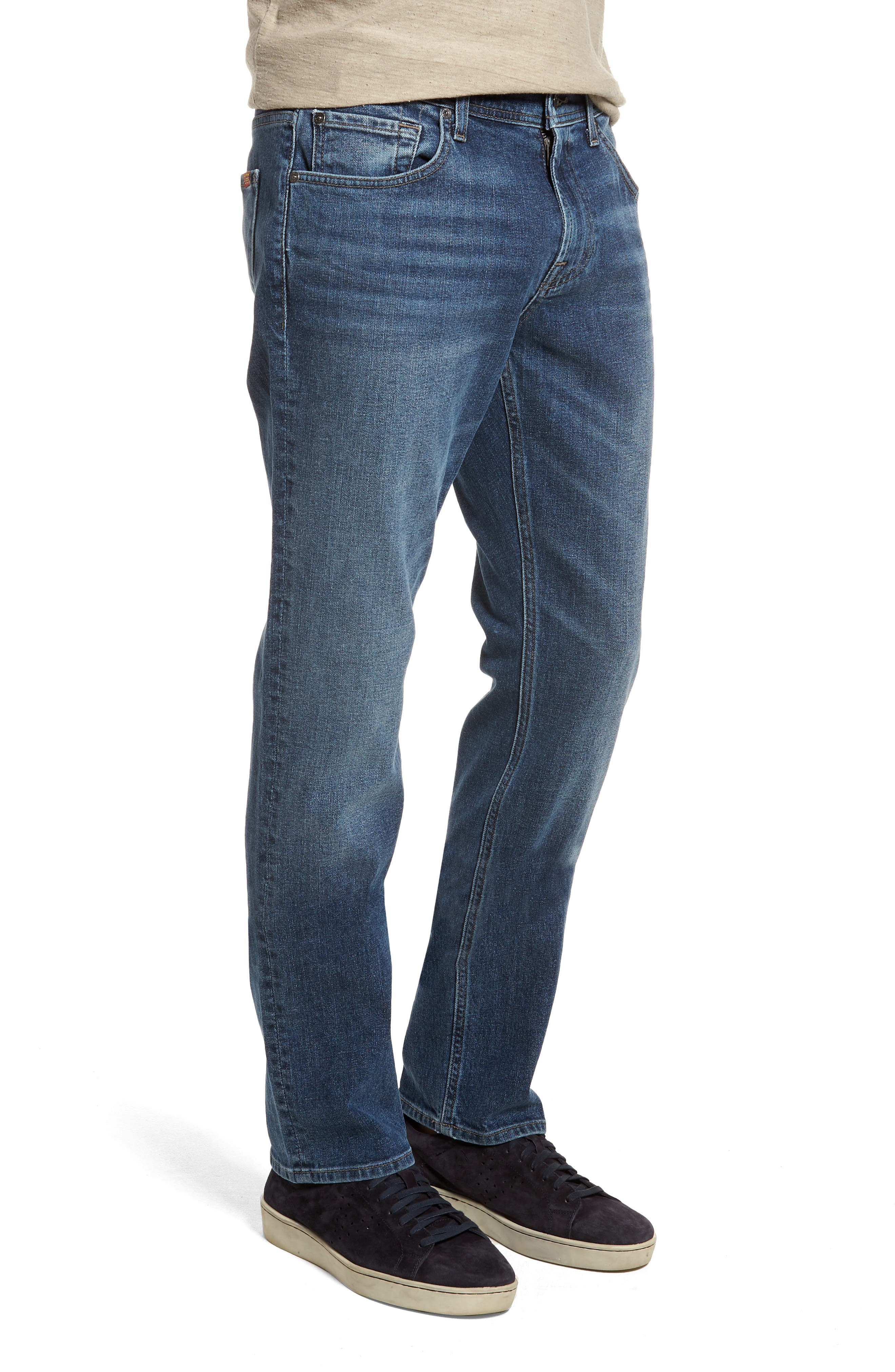 The Straight Slim Straight Fit Jeans,                             Alternate thumbnail 3, color,                             Sinai