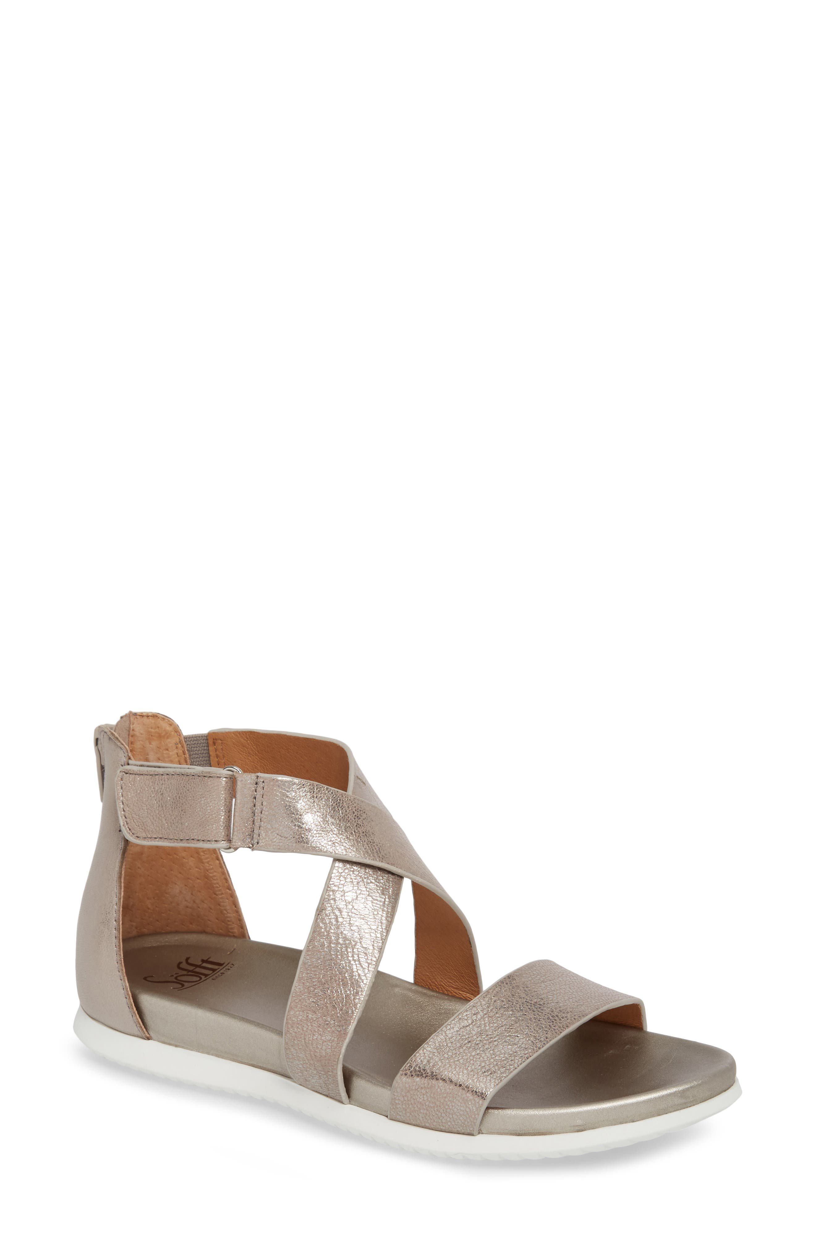 Fiora Sandal,                         Main,                         color, Anthracite Leather