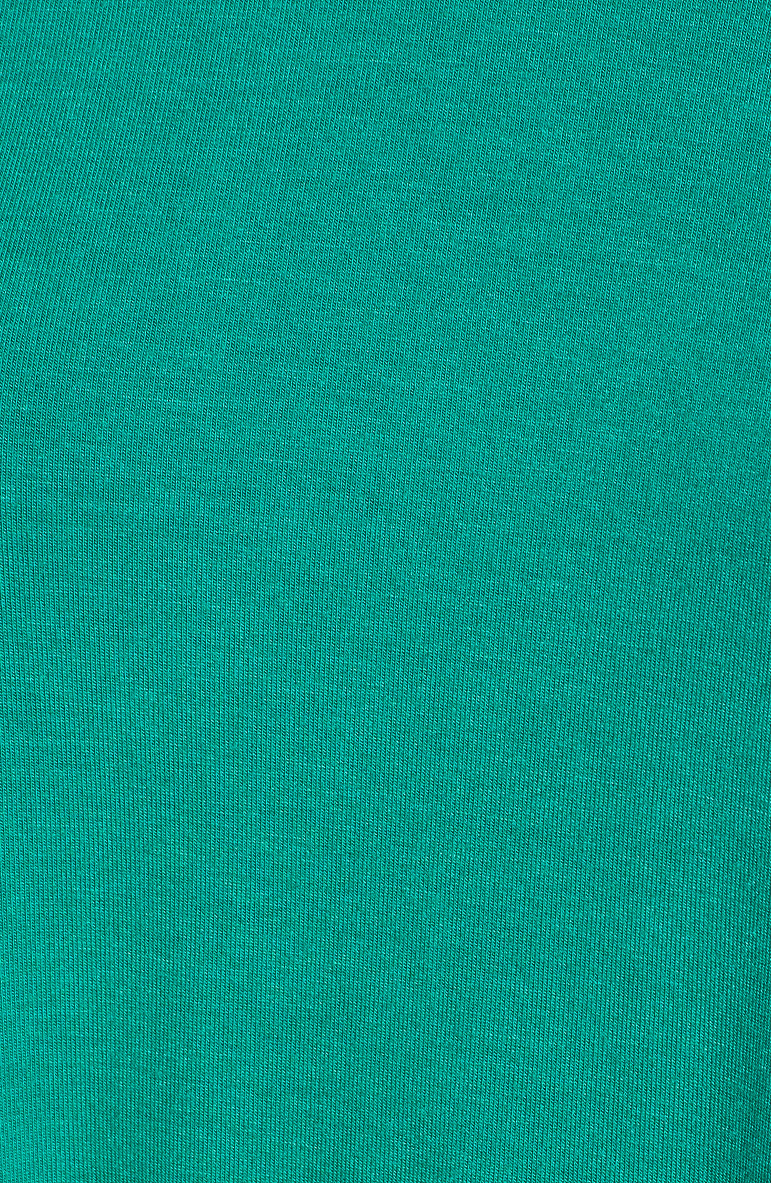 Ruffle Sleeve Tee,                             Alternate thumbnail 5, color,                             Green Pepper