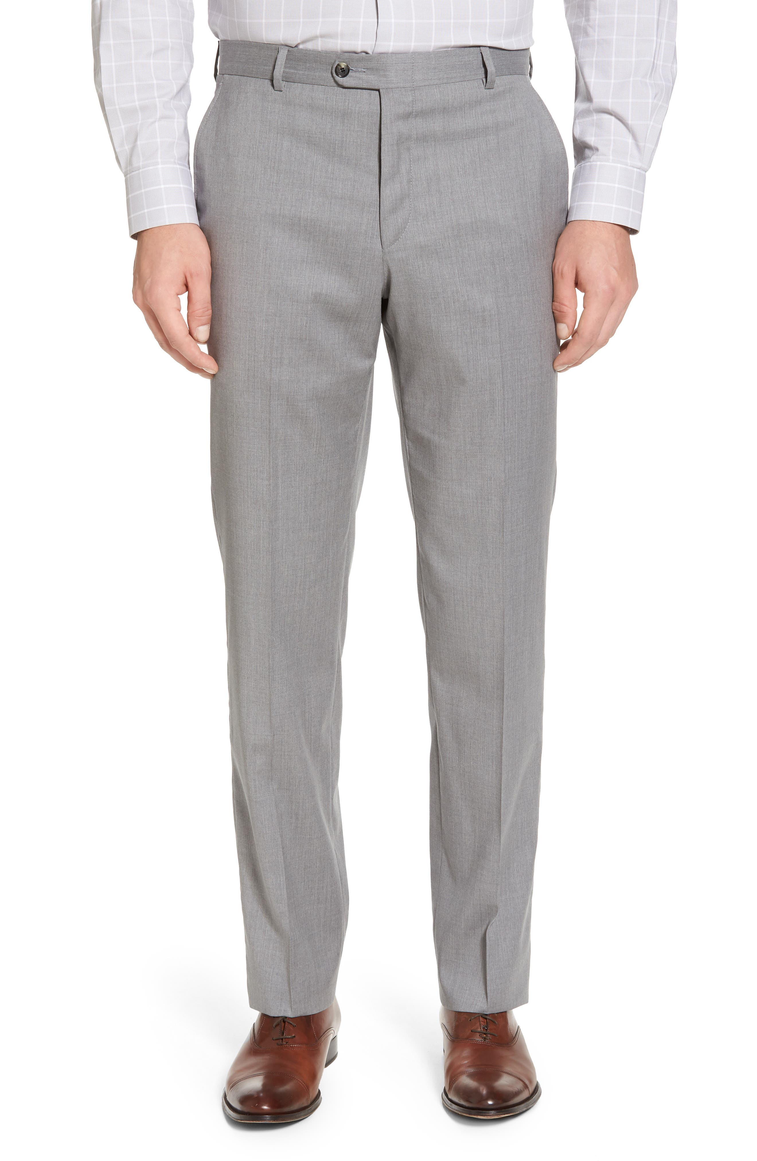 Classic B Fit Solid Wool Suit,                             Alternate thumbnail 6, color,                             Grey