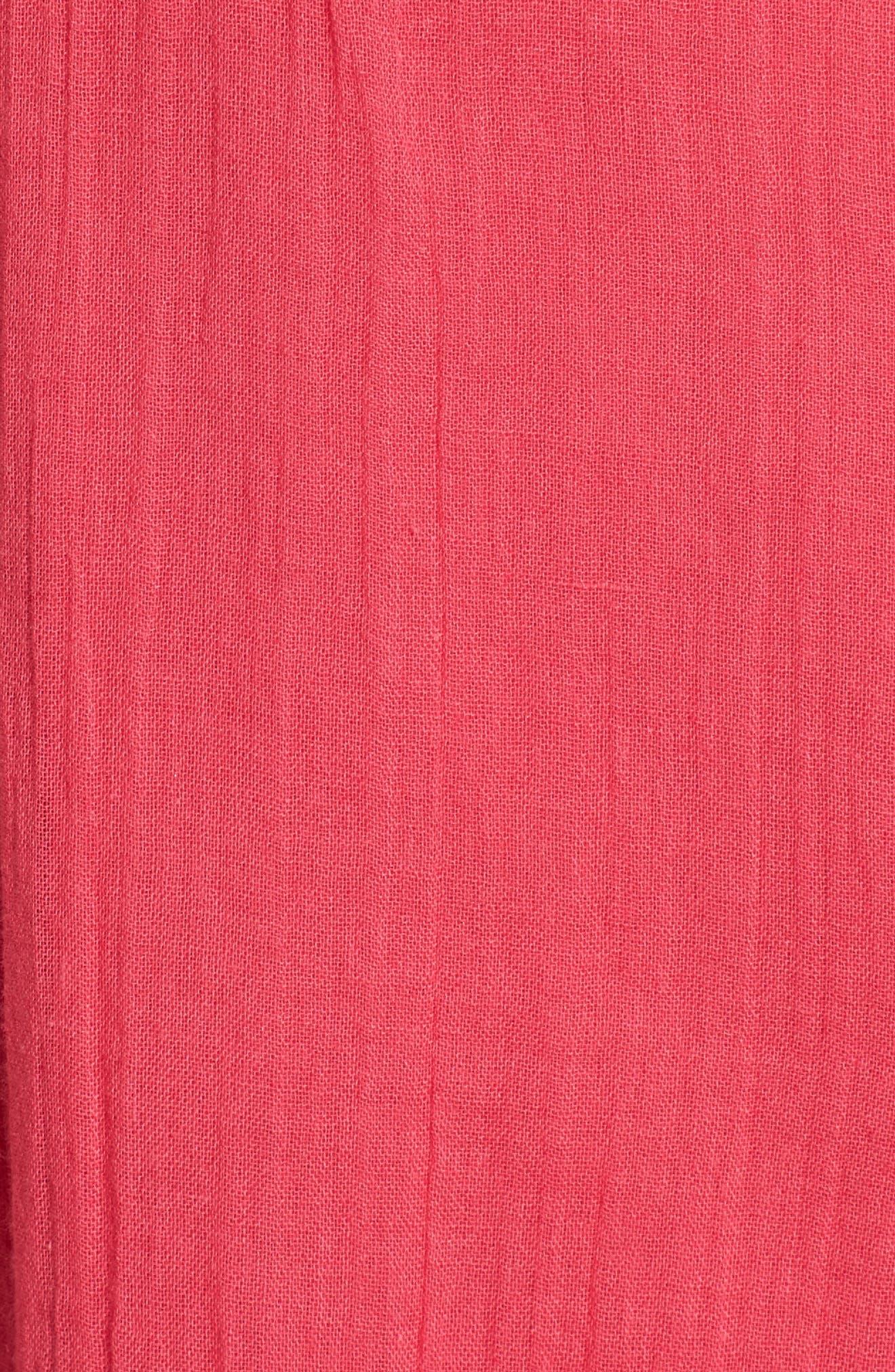 Casey Ruffle Minidress,                             Alternate thumbnail 5, color,                             Fuchsia