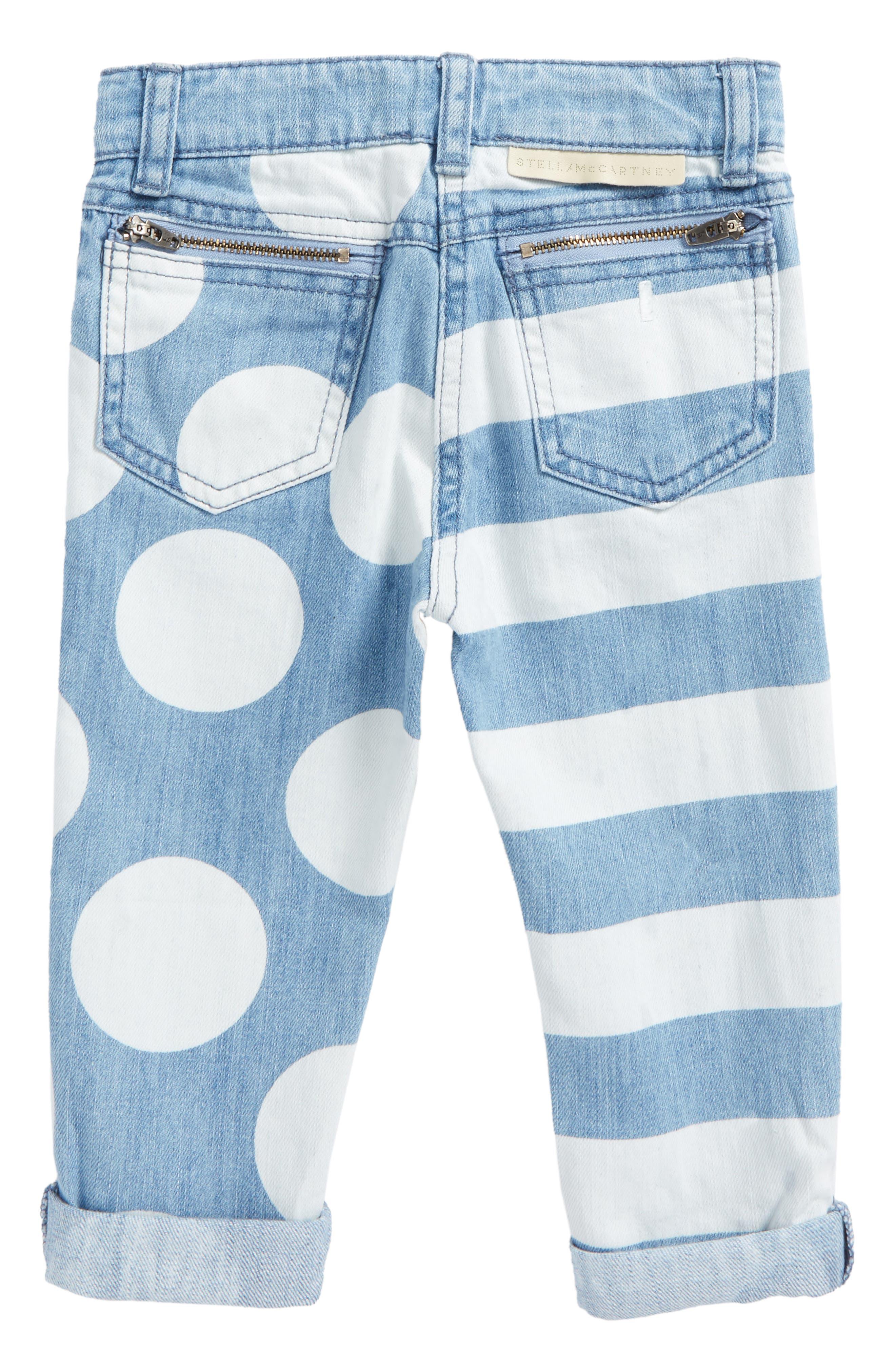 Lohan Stripe & Polka Dot Jeans,                             Alternate thumbnail 2, color,                             Printed Denim
