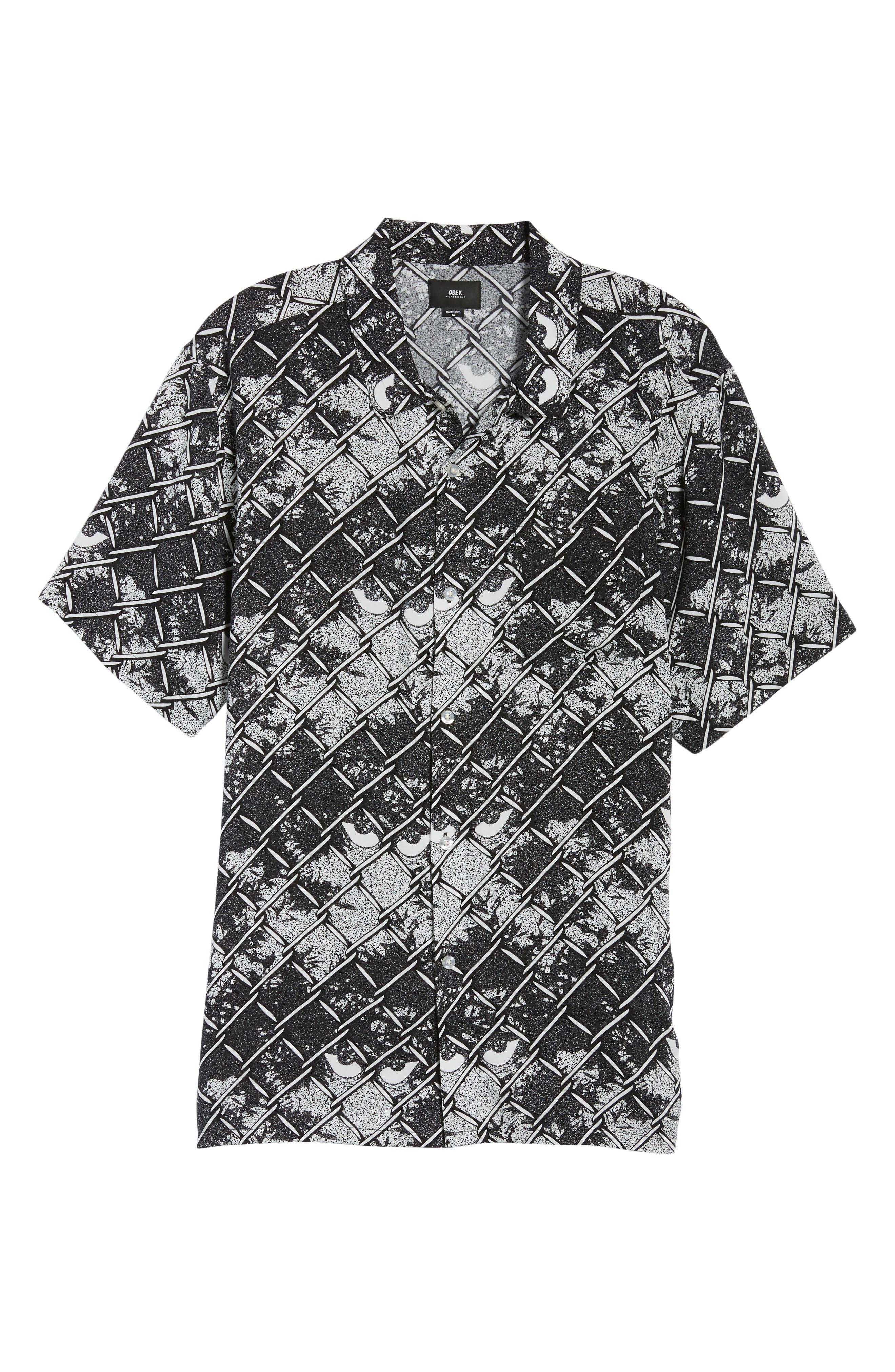 Gatekeeper Short Sleeve Shirt,                             Alternate thumbnail 6, color,                             Black Multi