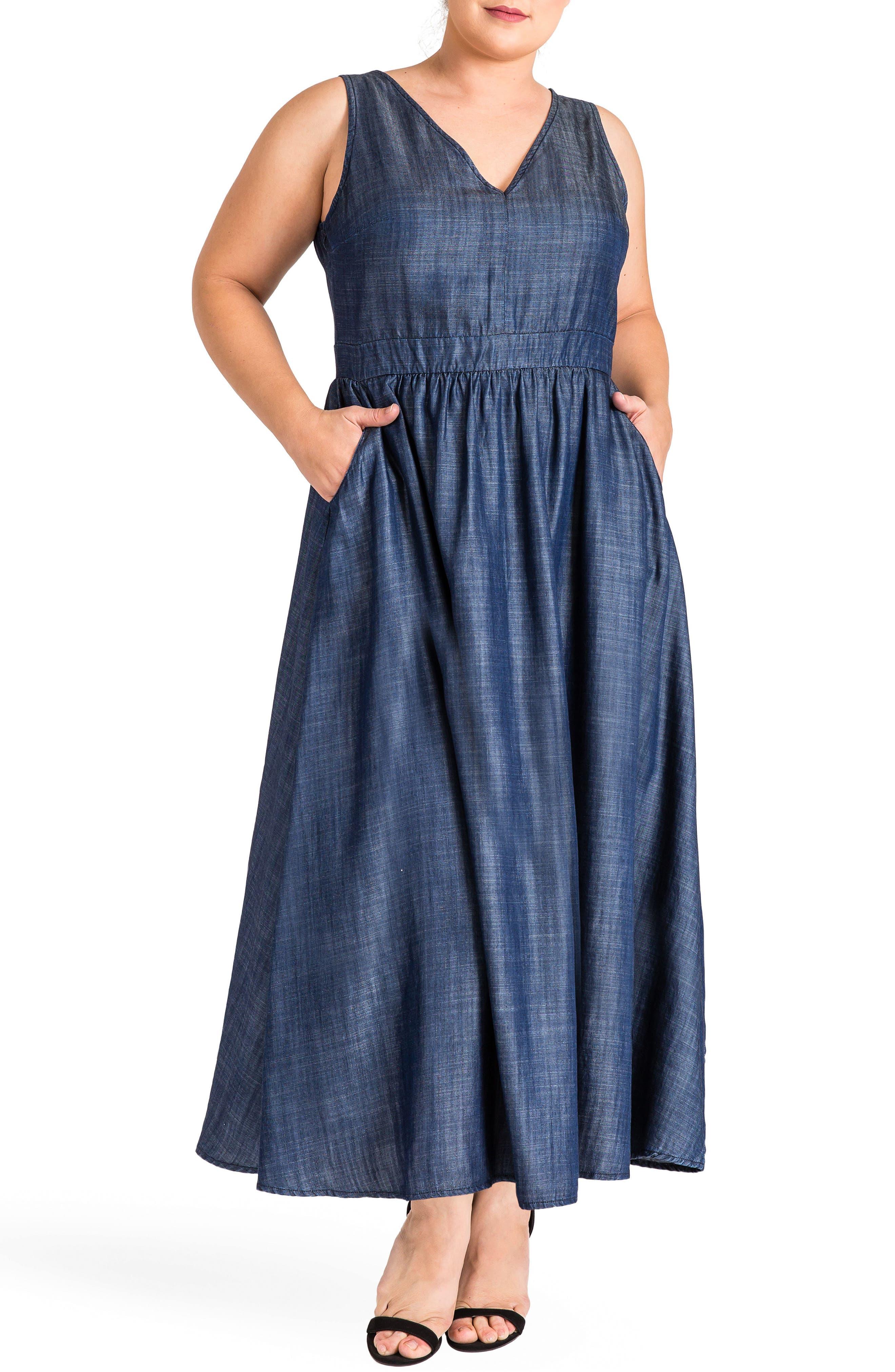 Nimah Maxi Dress,                         Main,                         color, Dark Blue