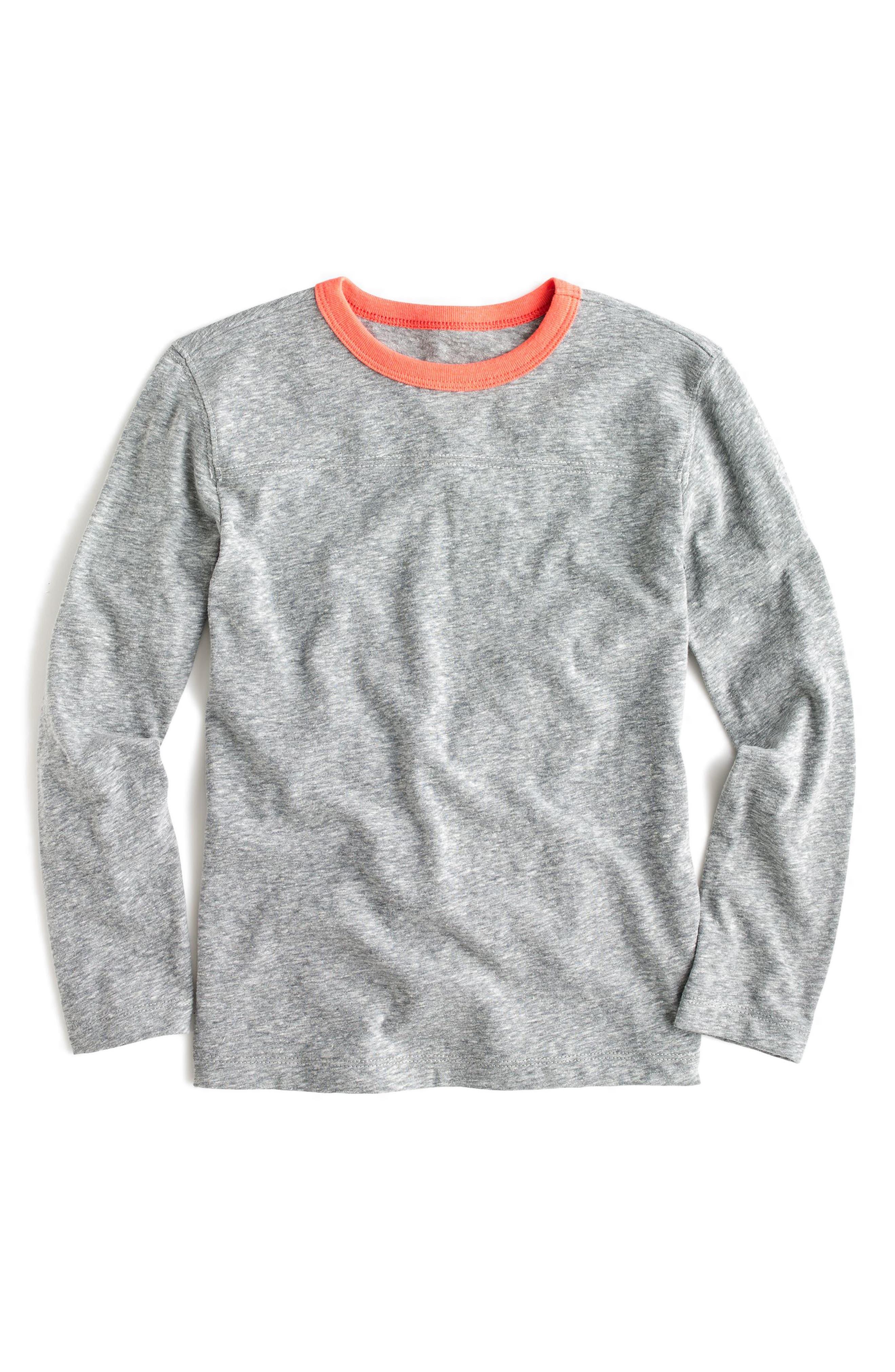 Long Sleeve Ringer T-Shirt,                         Main,                         color, Boulder