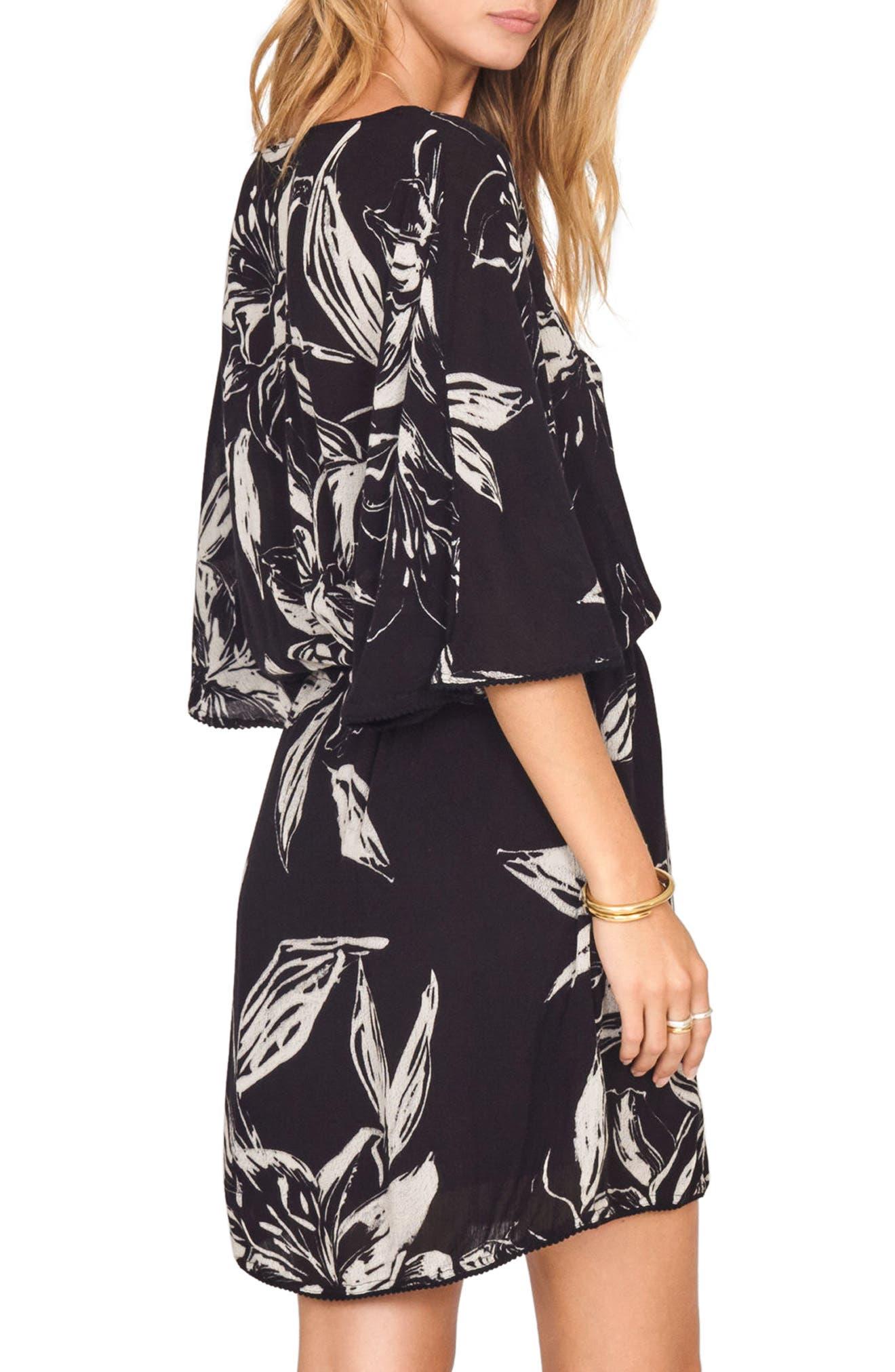 Alternate Image 3  - Amuse Society Cross My Heart Floral Print Dress