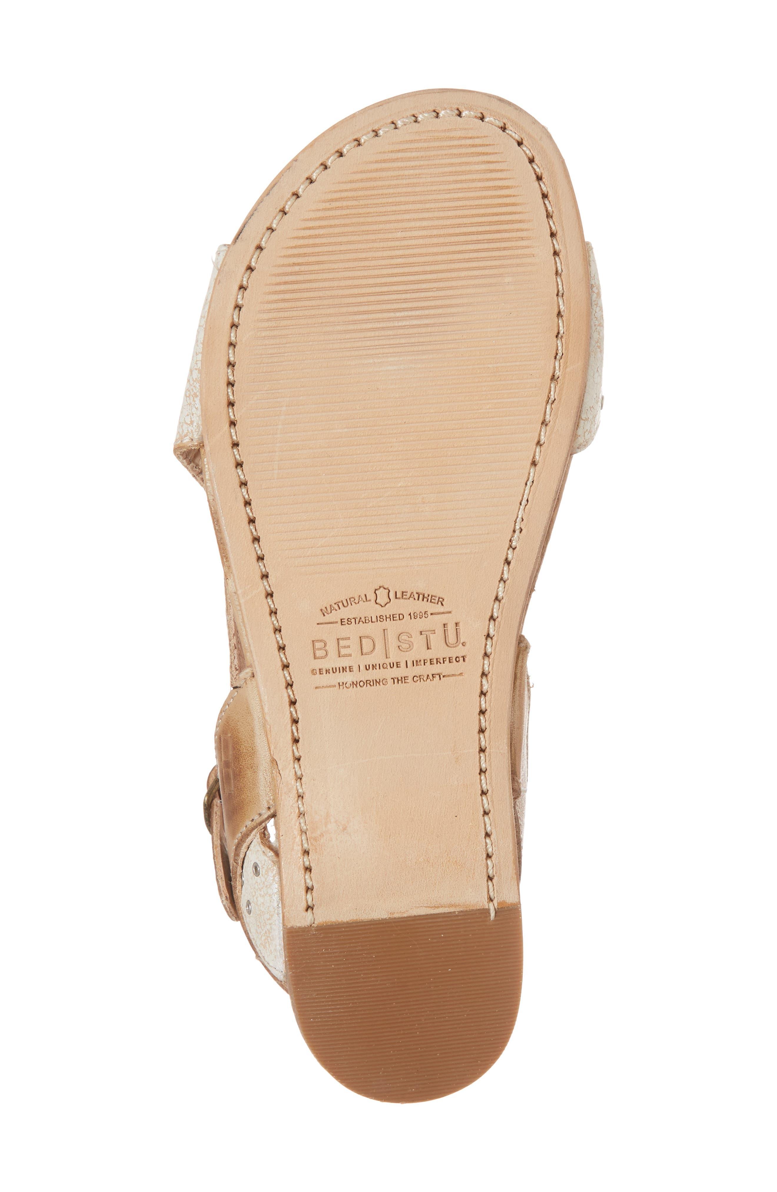 Auburn Flat Sandal,                             Alternate thumbnail 6, color,                             Nectar/ Tan Leather