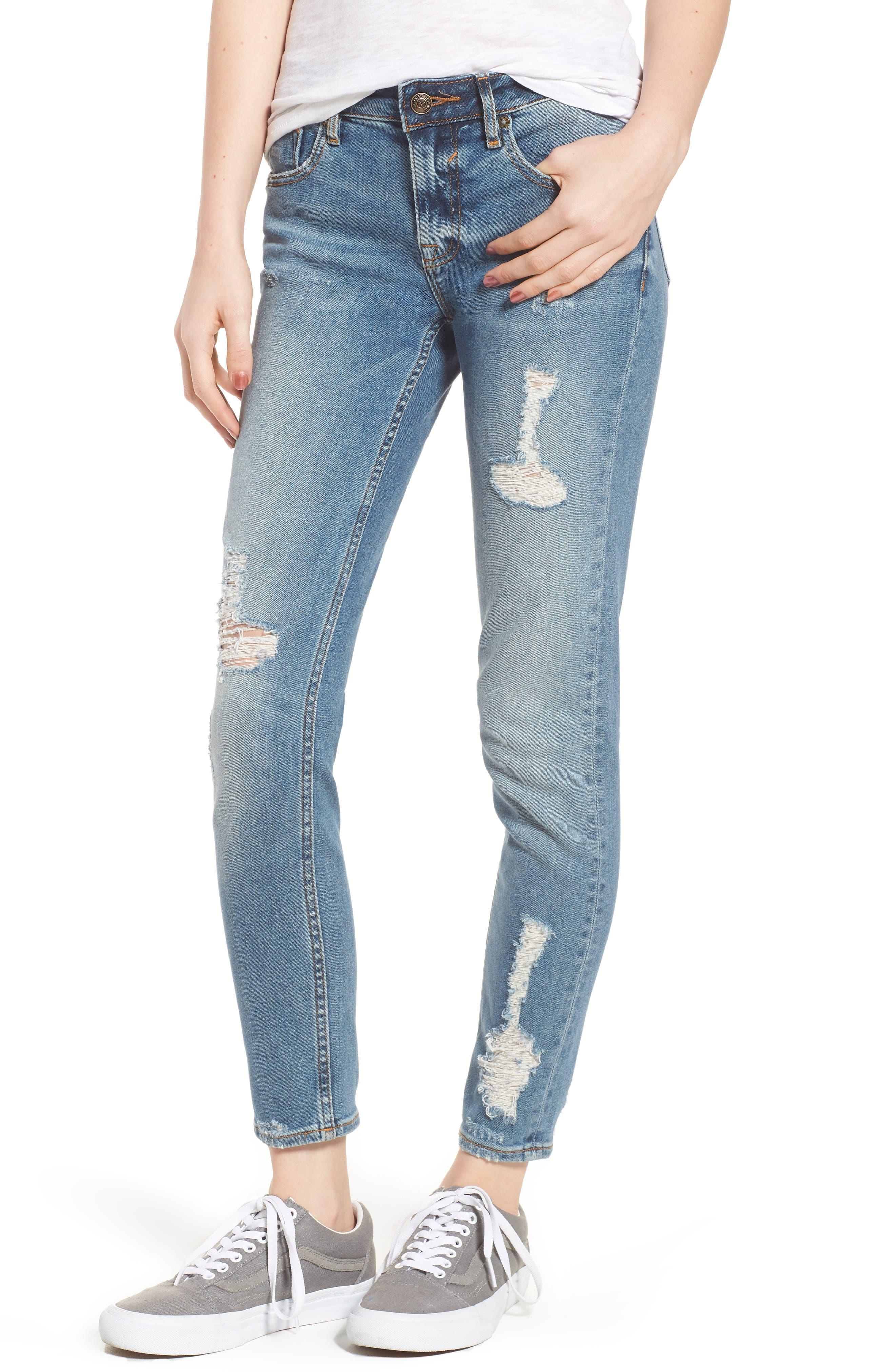Jagger Decon Distressed Skinny Jeans,                             Main thumbnail 1, color,                             Medium Wash