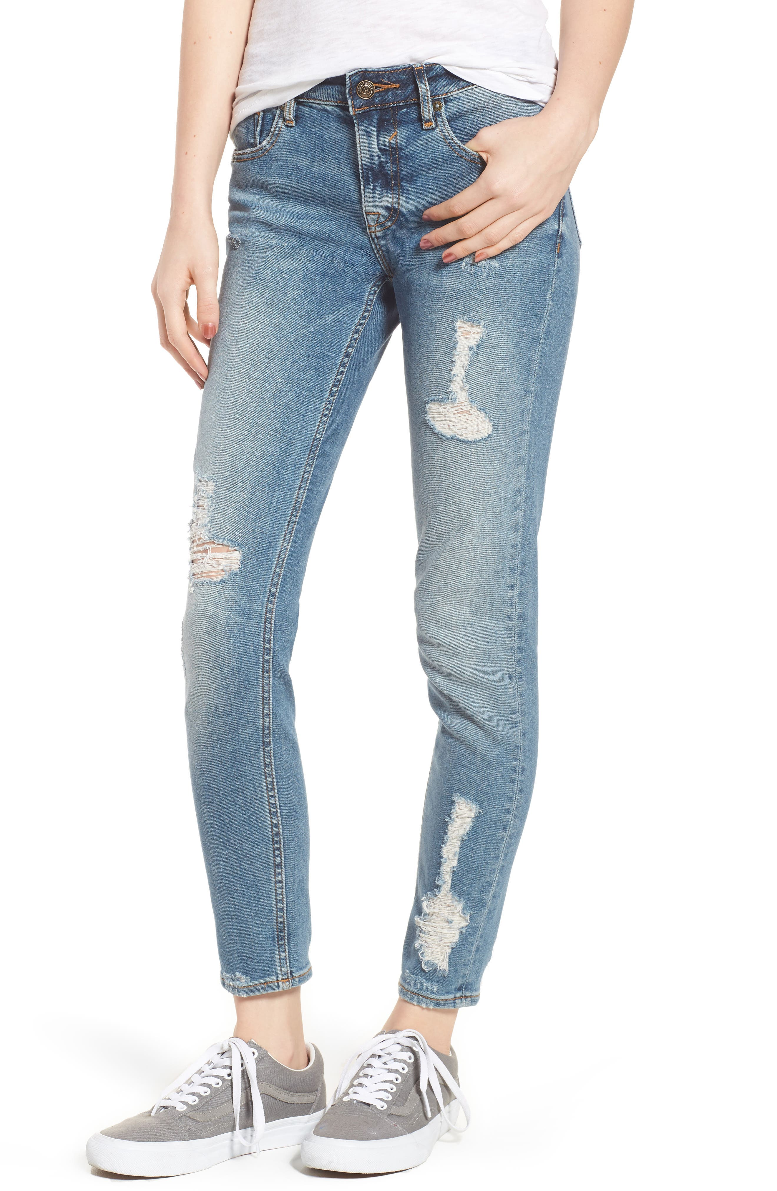 Jagger Decon Distressed Skinny Jeans,                         Main,                         color, Medium Wash