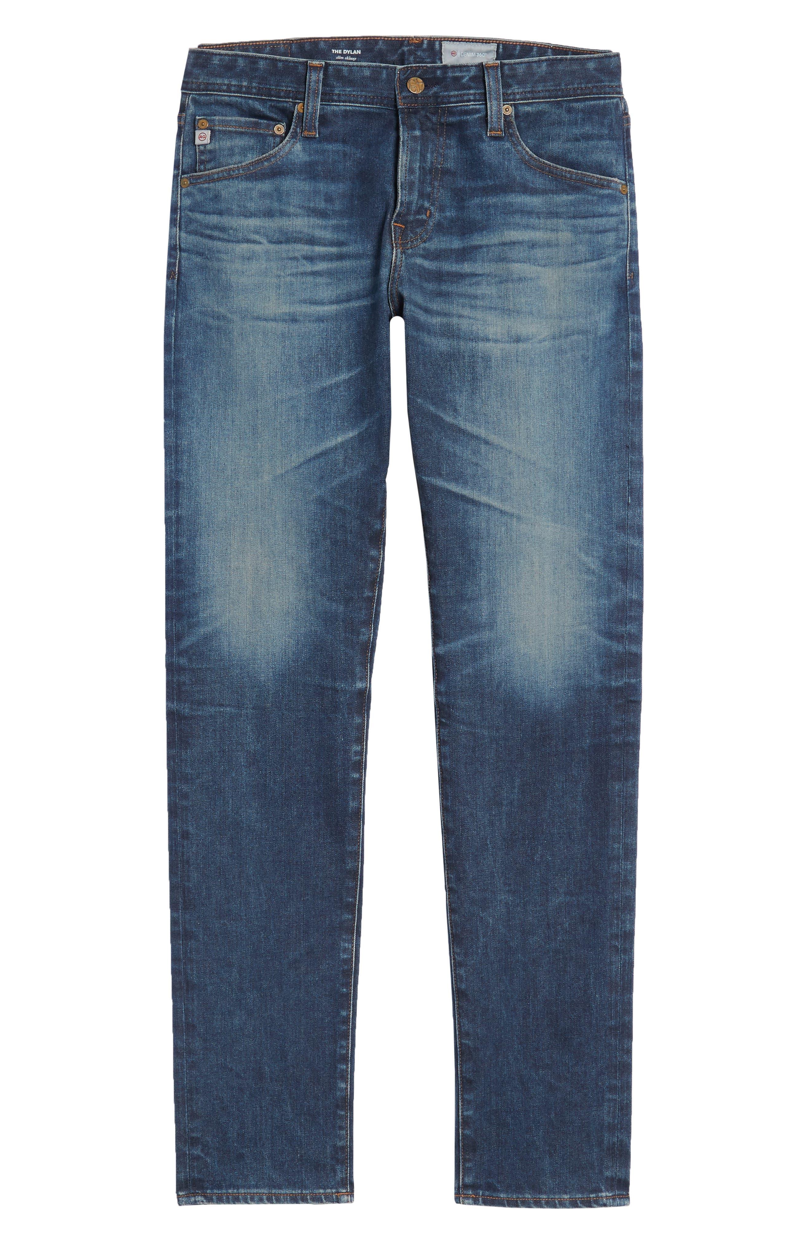 Dylan Slim Skinny Fit Jeans,                             Alternate thumbnail 6, color,                             12 Years River Veil