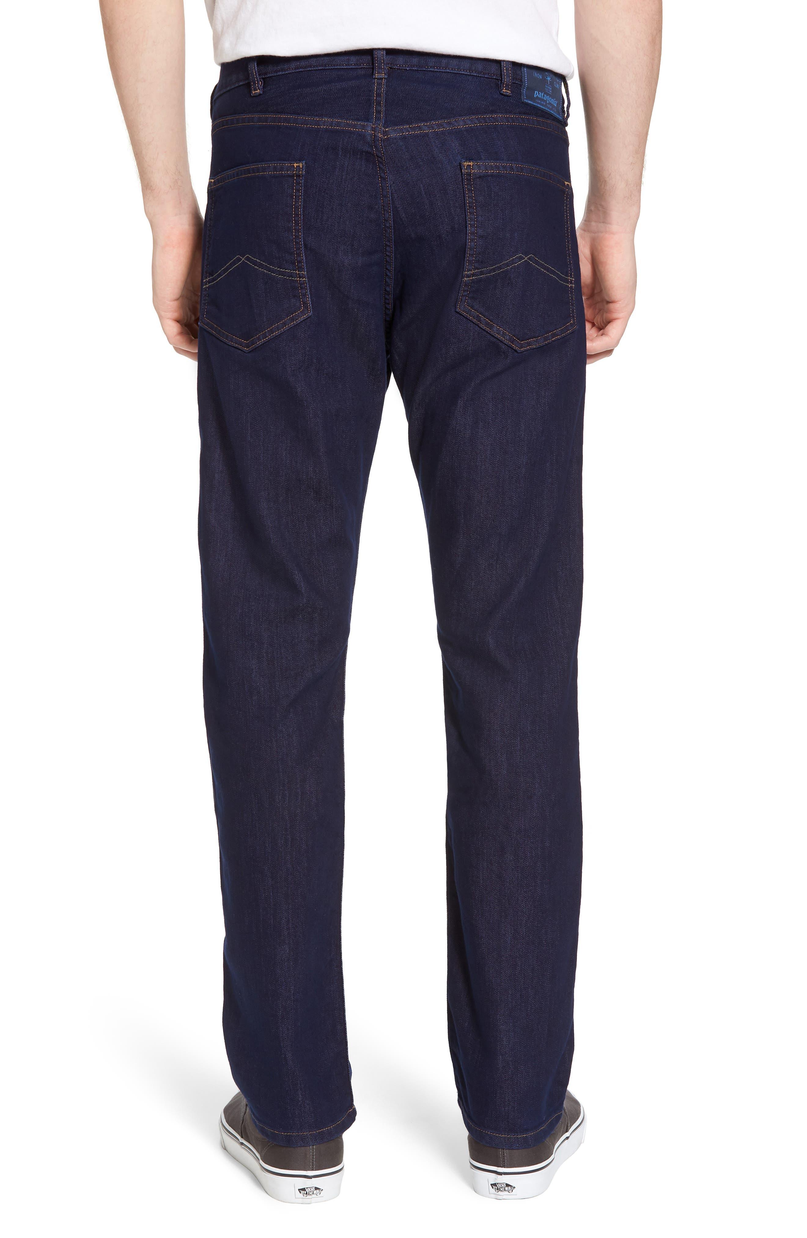 Straight Leg Performance Jeans,                             Alternate thumbnail 2, color,                             Dark Denim