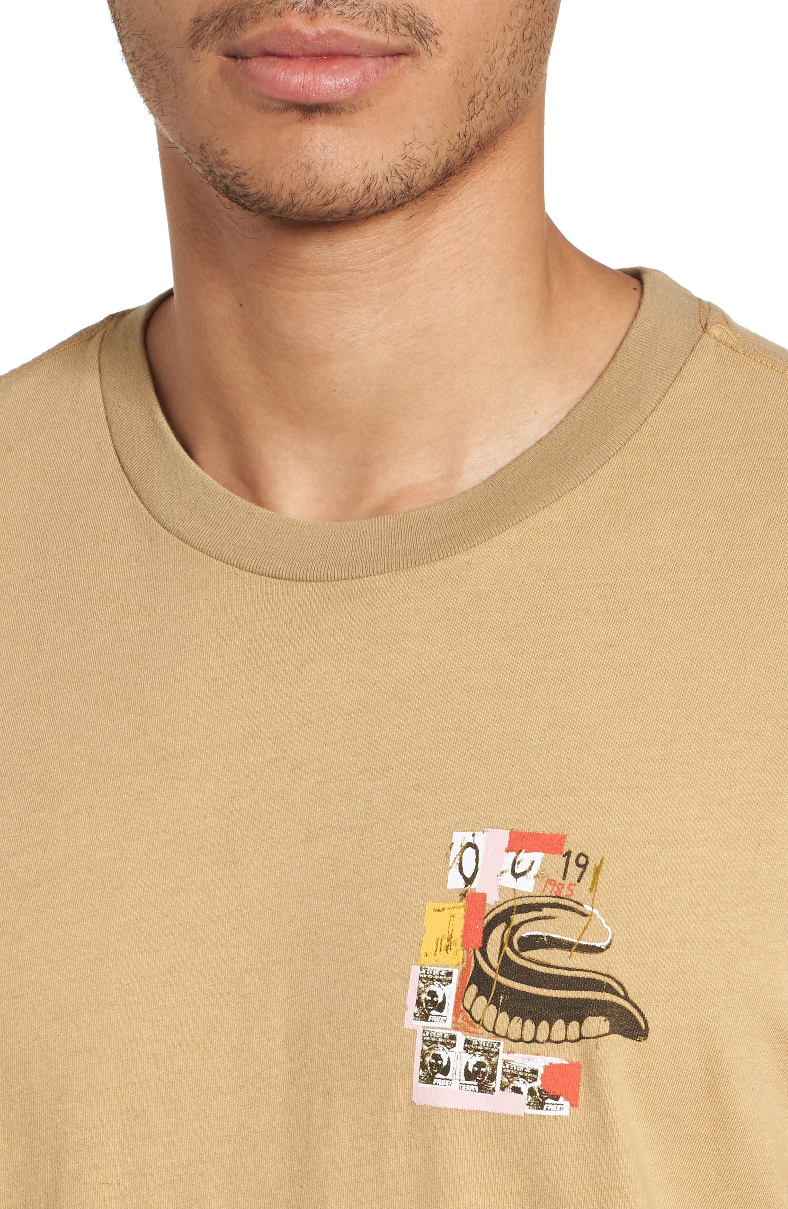 x Warhol Eighty Graphic T-Shirt,                             Alternate thumbnail 4, color,                             Straw