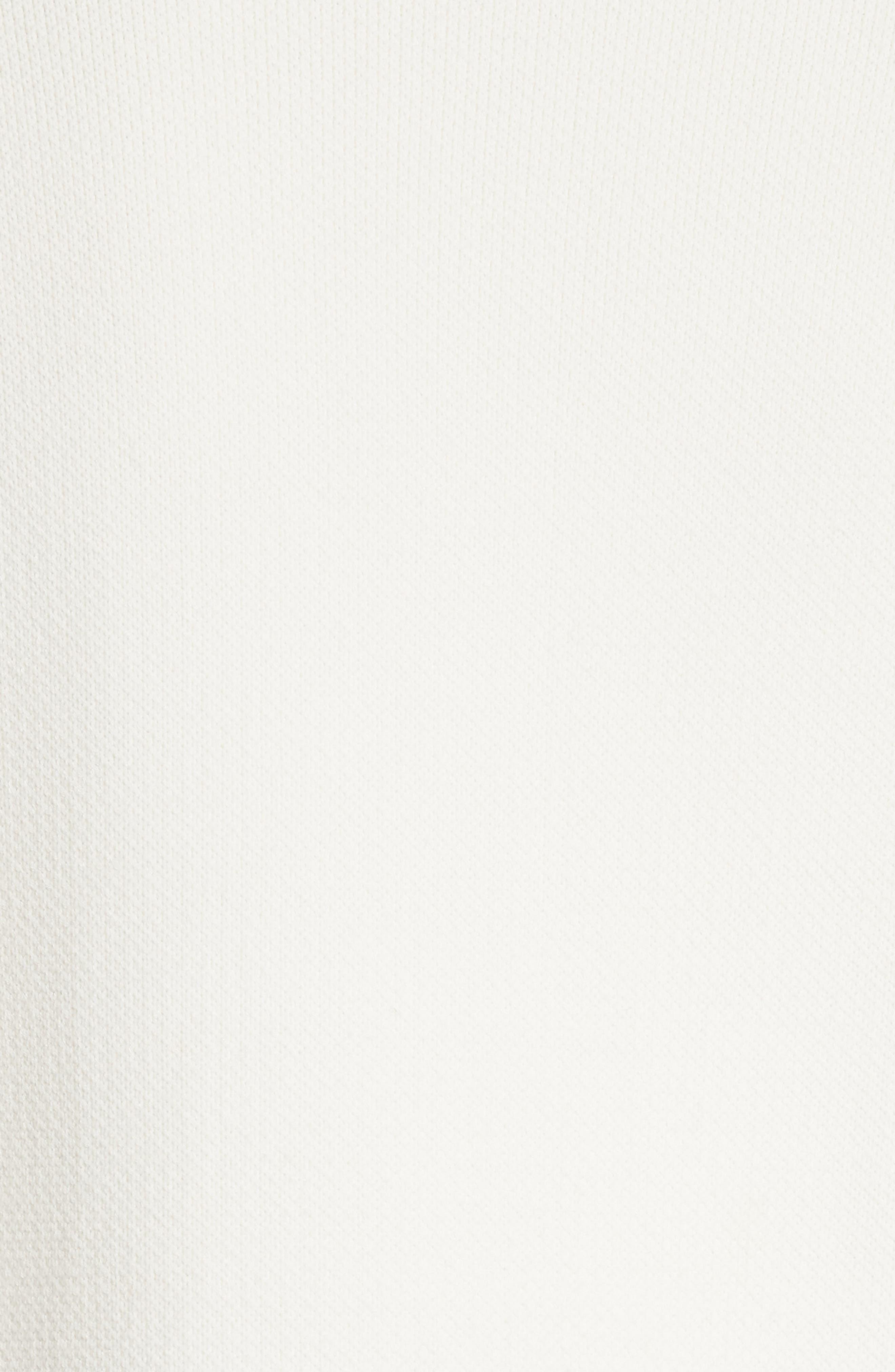 Colorblock Raglan Sweater,                             Alternate thumbnail 6, color,                             Snow White/ Slalom Blue