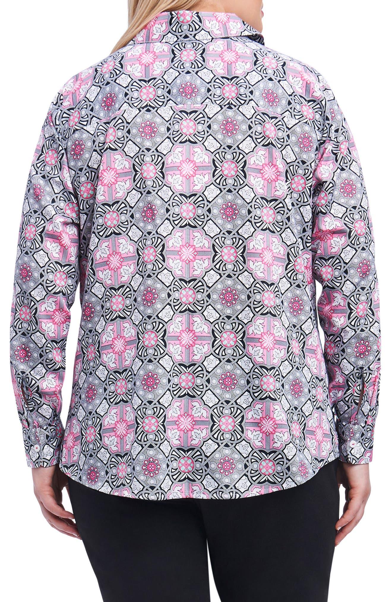 Ava Mosaic Tile Shirt,                             Alternate thumbnail 2, color,                             Multi