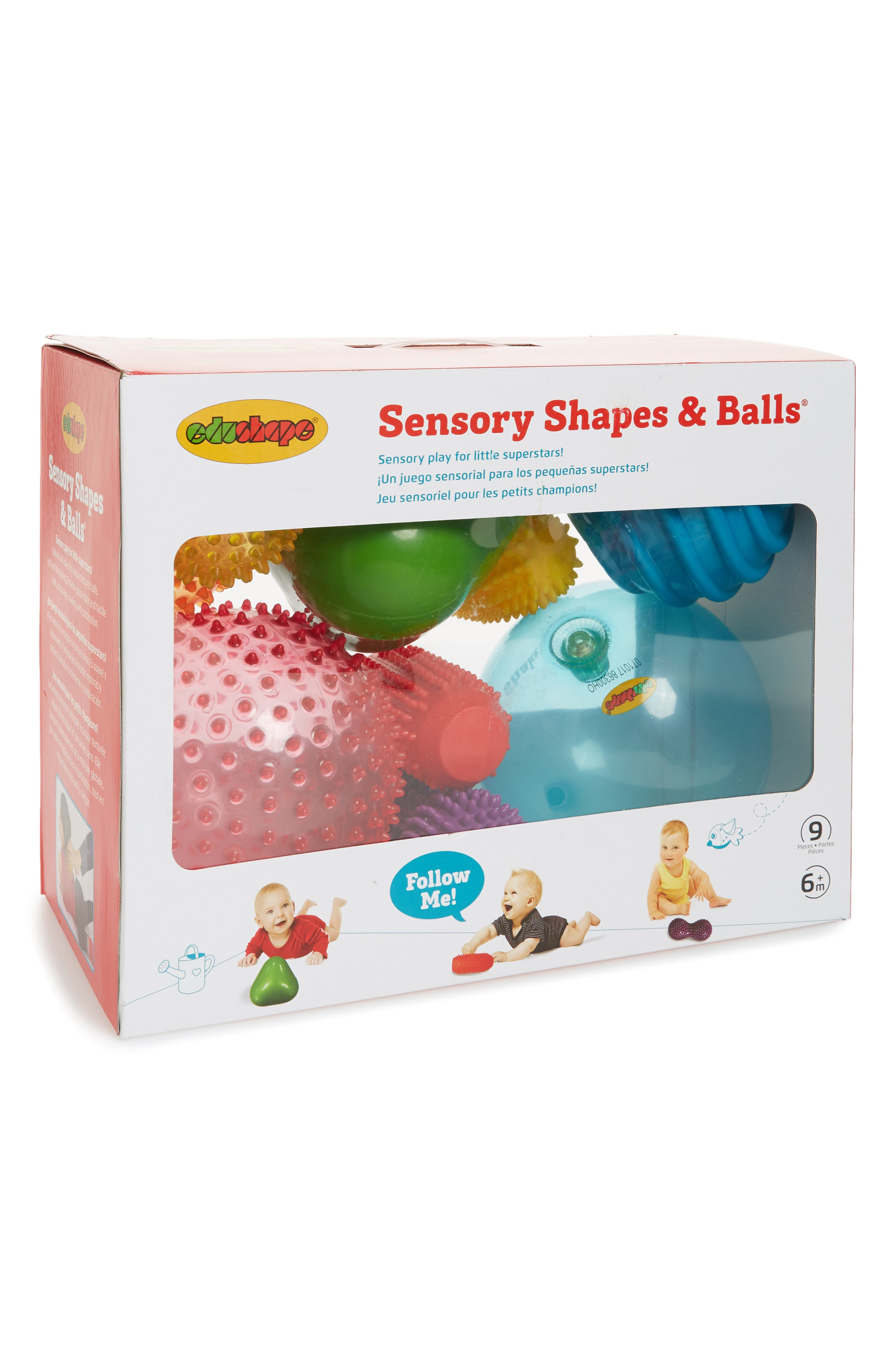 edushape Sensory Shapes & Balls 9-Piece Toy Set