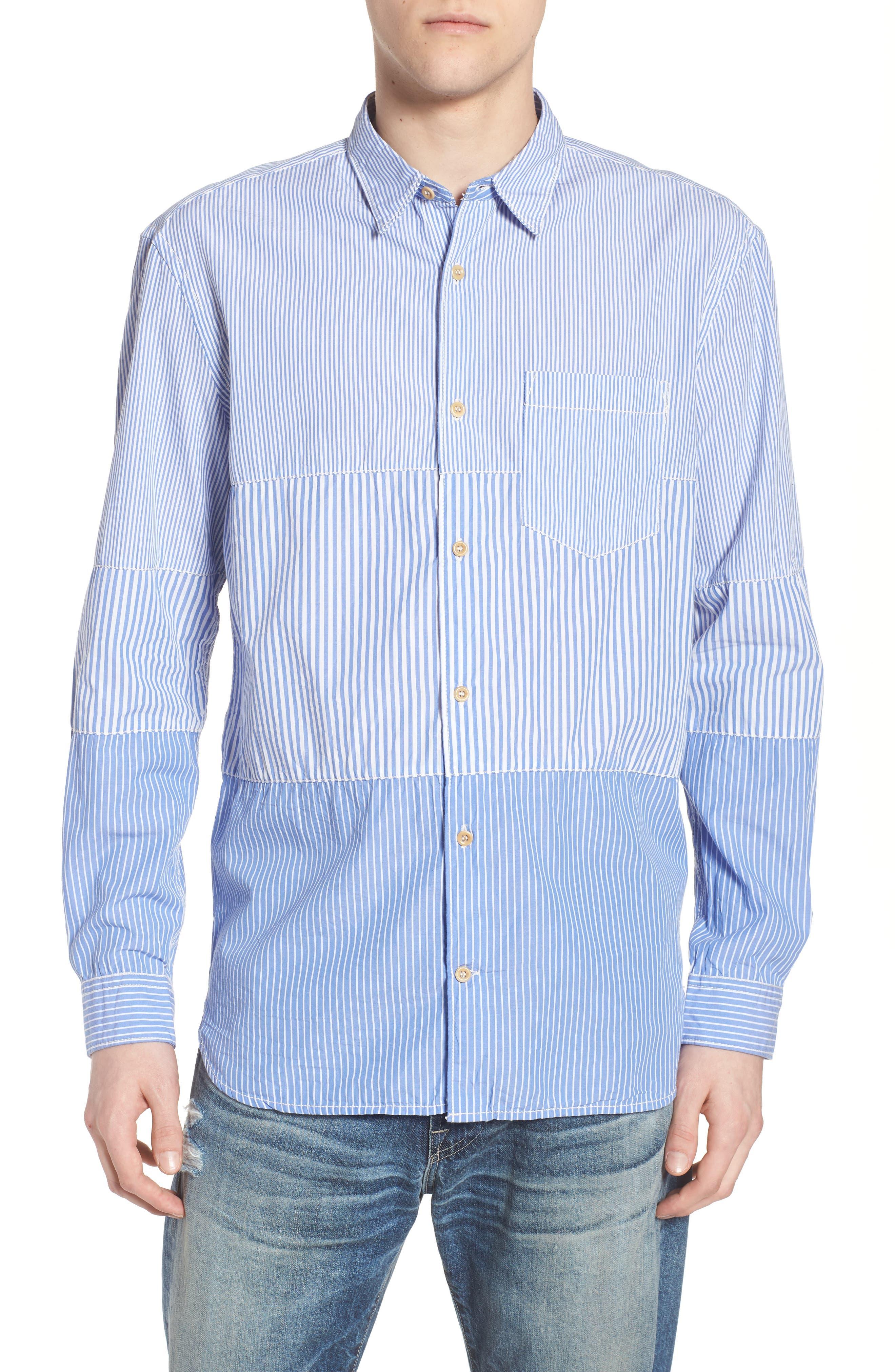 Regular Fit Stripe Sport Shirt,                             Main thumbnail 1, color,                             All Stripe