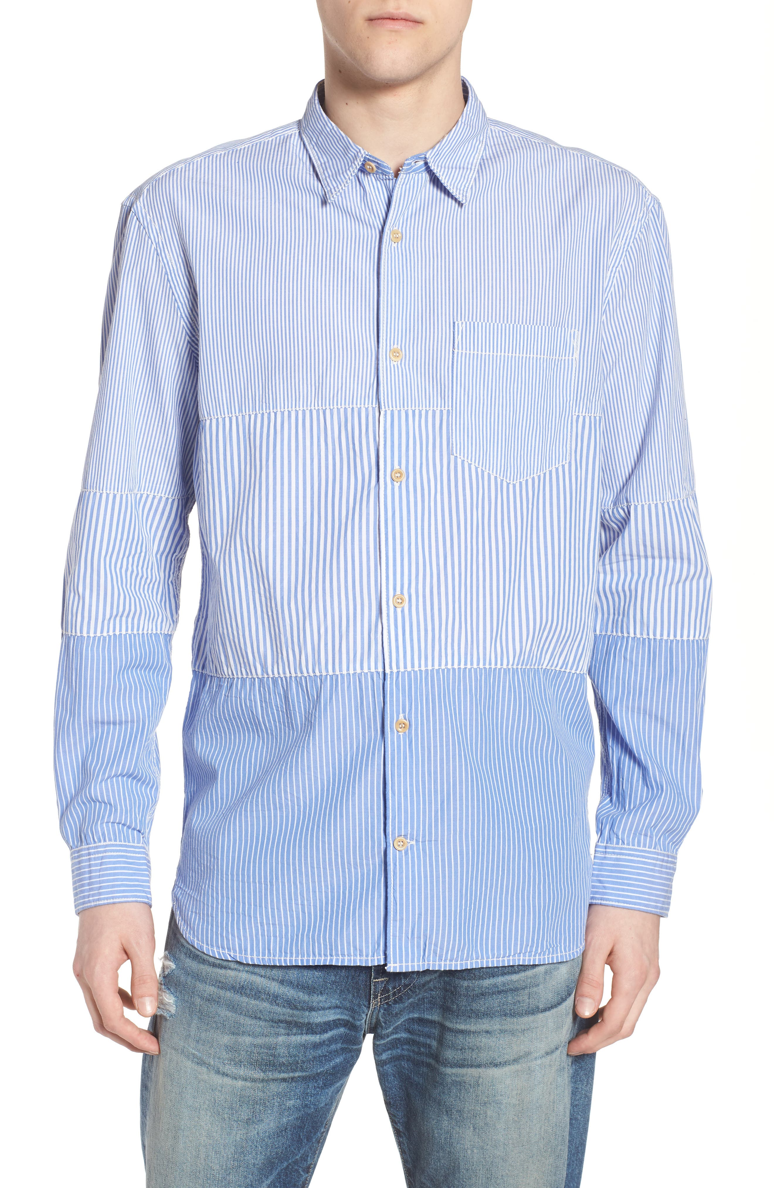 French Connection Regular Fit Stripe Sport Shirt
