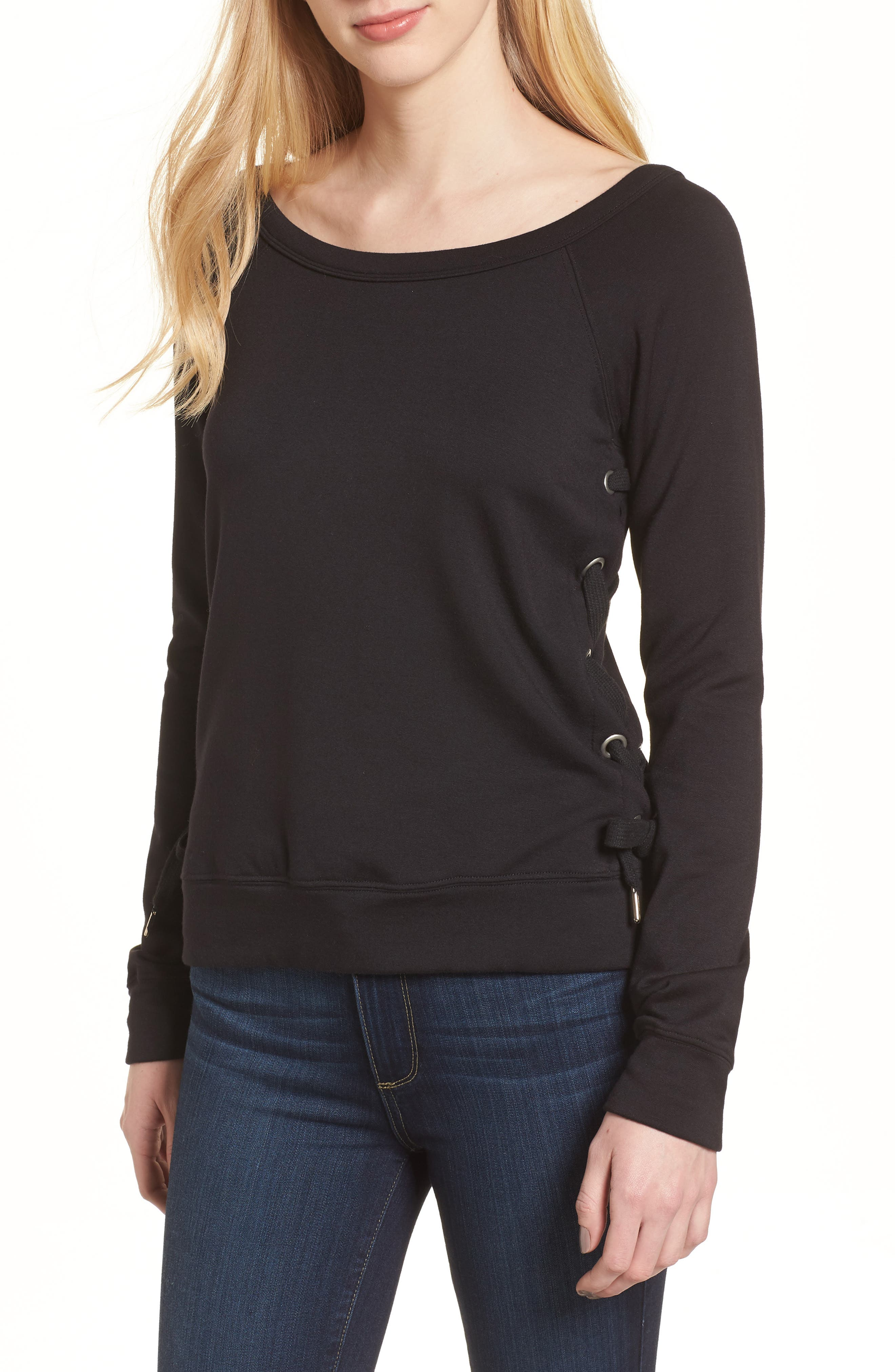 I'm out of Office Sweater,                             Main thumbnail 1, color,                             Black
