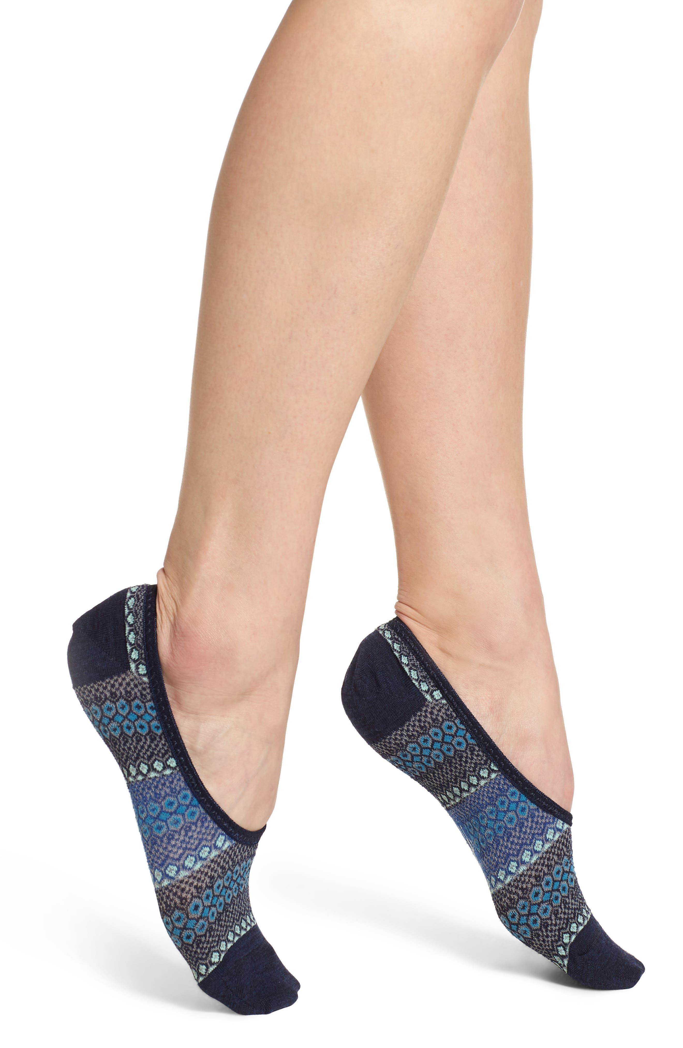 Beyond The Hive Hide & Seek No-Show Socks,                         Main,                         color, Deep Navy Heather