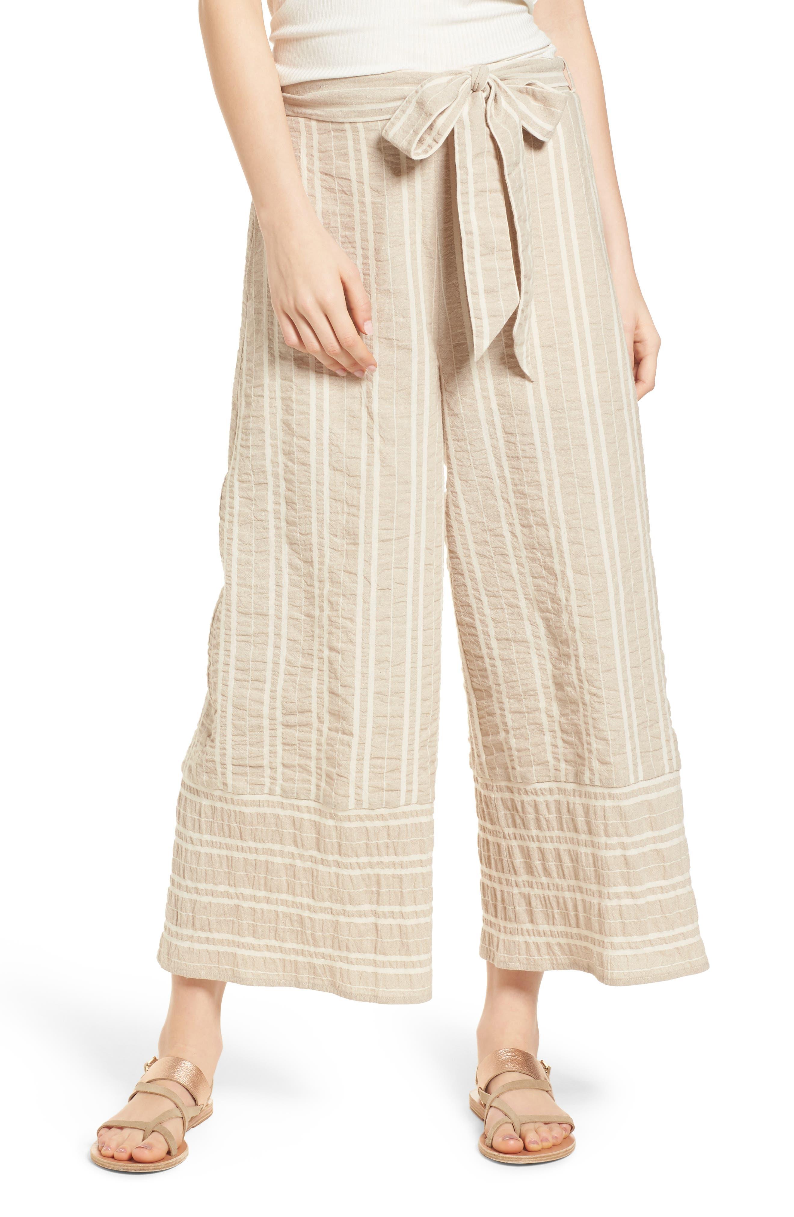 Lost + Wander Stella Stripe Tie Waist Pants