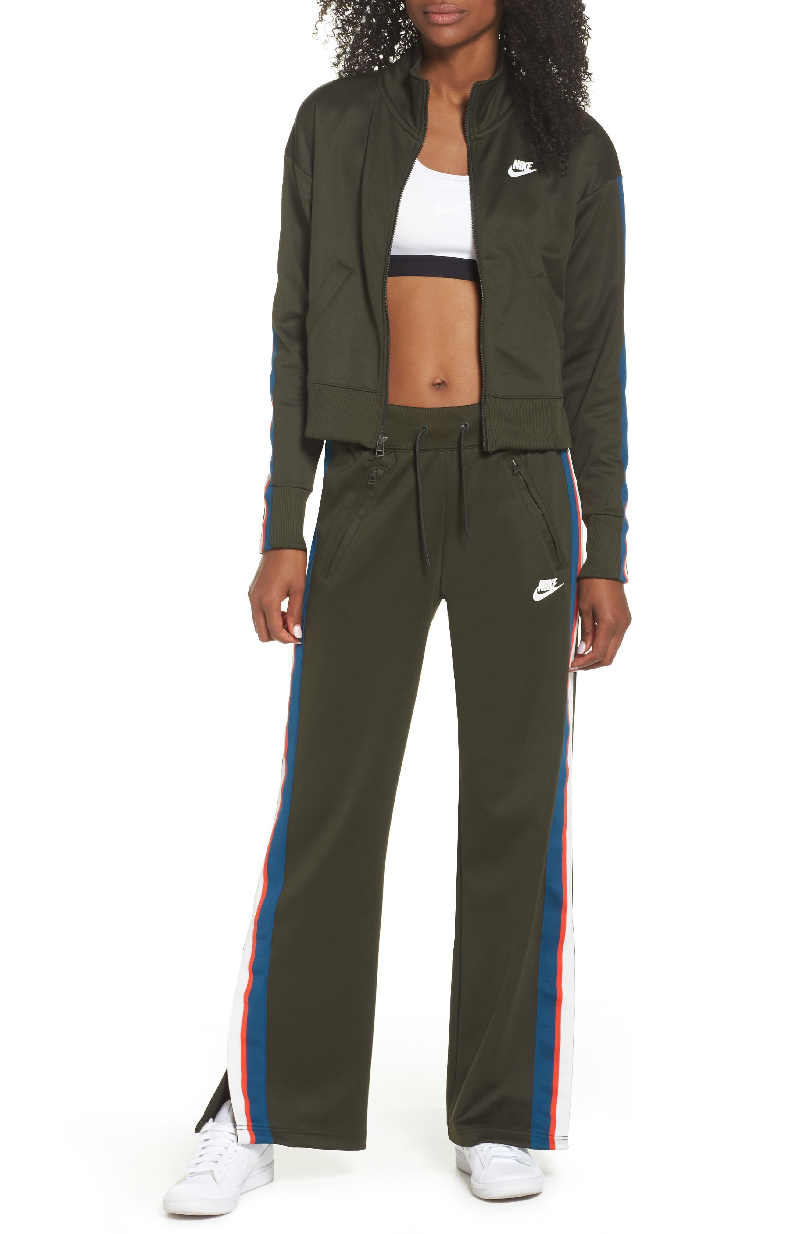 Sportswear Crop Jacket,                             Alternate thumbnail 8, color,                             Sequoia/ Sail