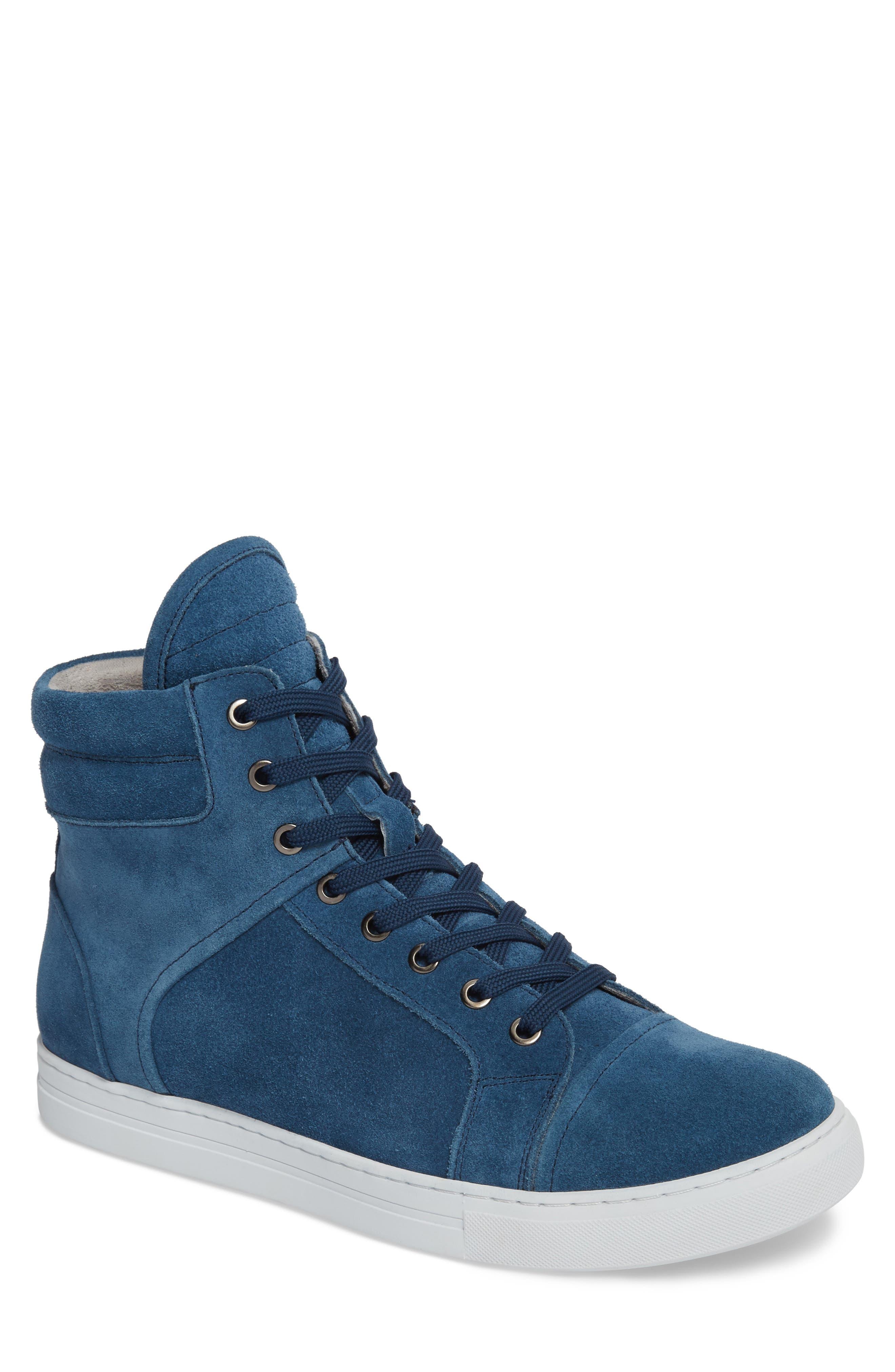 Double Header Sneaker,                         Main,                         color, Blue Suede