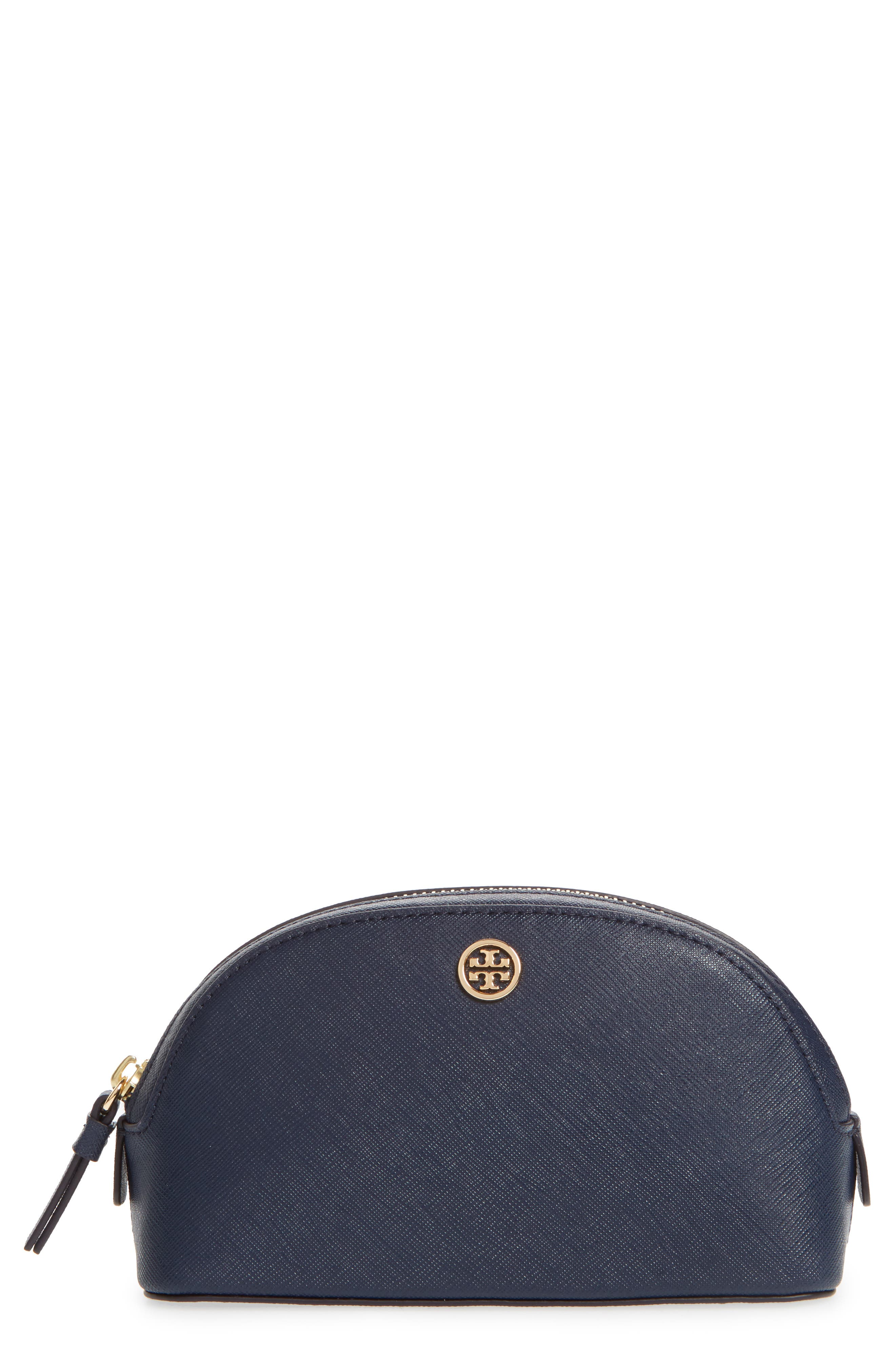 Tory Burch Robinson Small Leather Cosmetic Case