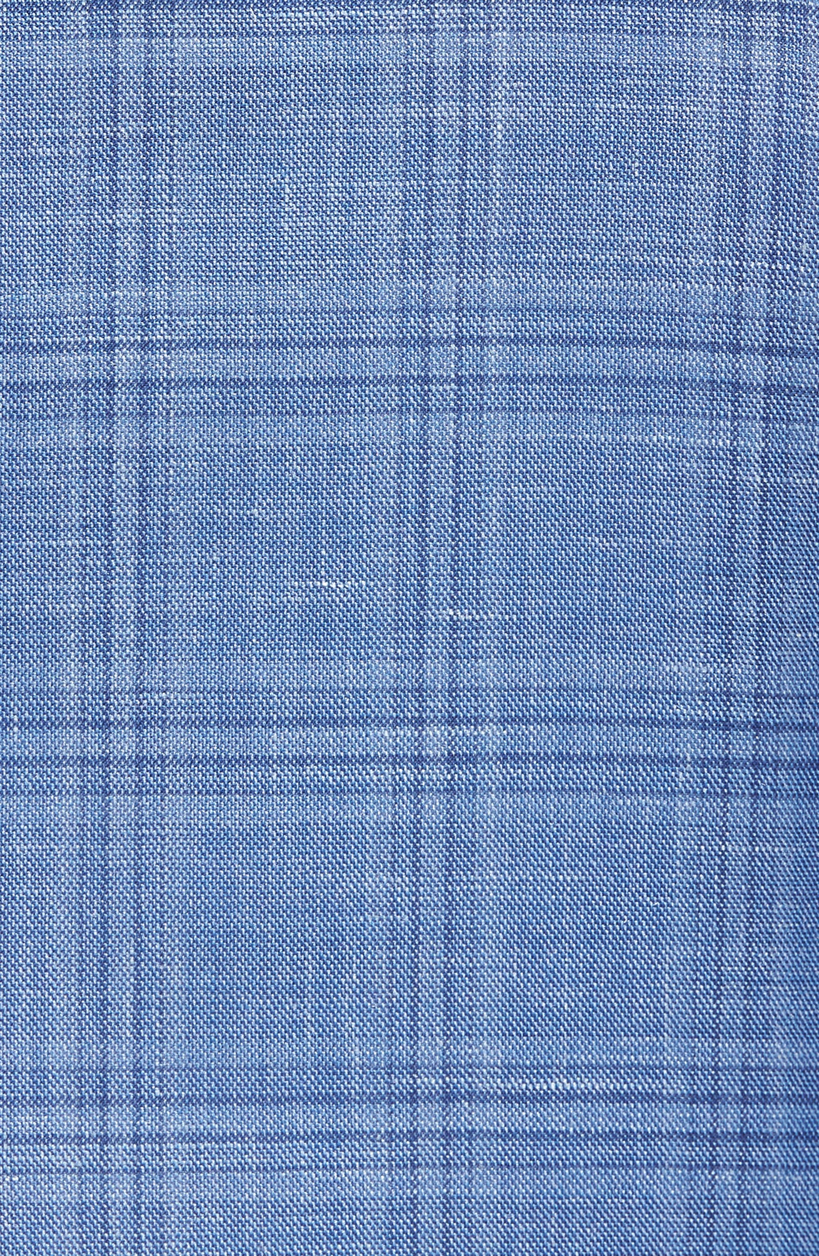 Arnold Classic Fit Plaid Wool Blend Sport Coat,                             Alternate thumbnail 5, color,                             Blue