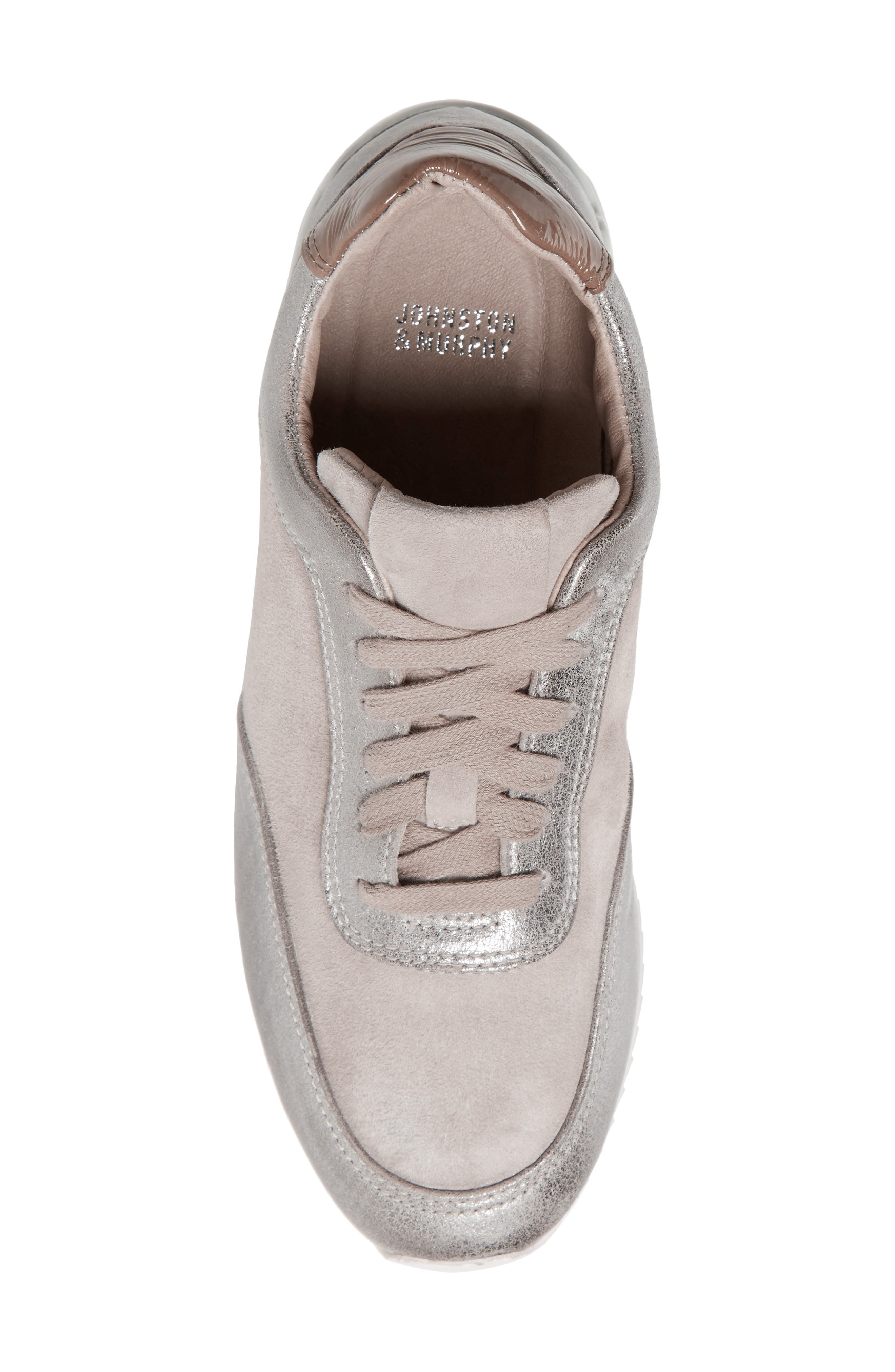 Jules Sneaker,                             Alternate thumbnail 5, color,                             Pewter Leather/ Suede