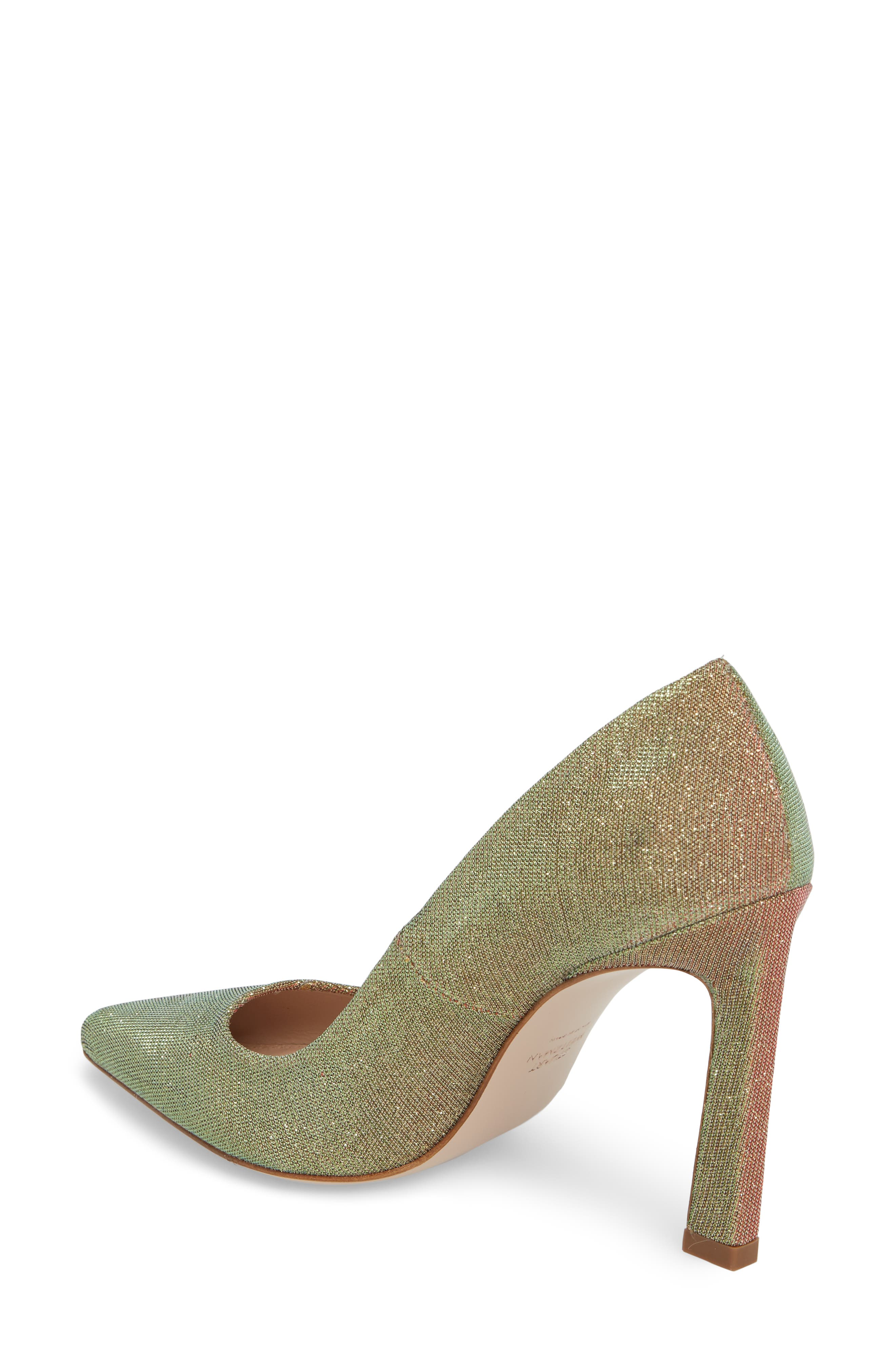 Chicster Pointy Toe Pump,                             Alternate thumbnail 2, color,                             Gold Multi Nighttime
