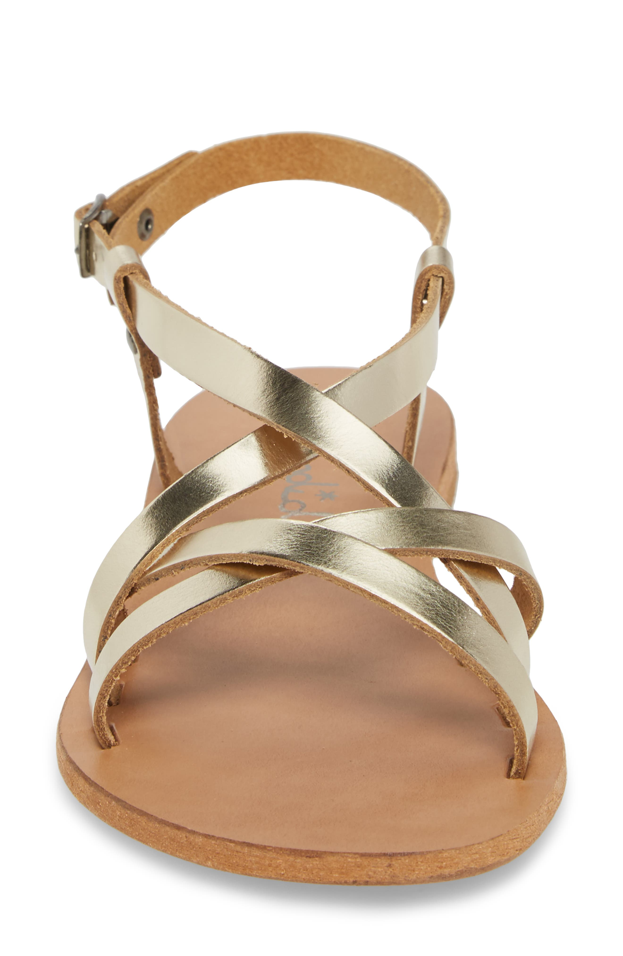 Bowen Sandal,                             Alternate thumbnail 4, color,                             Platino Leather