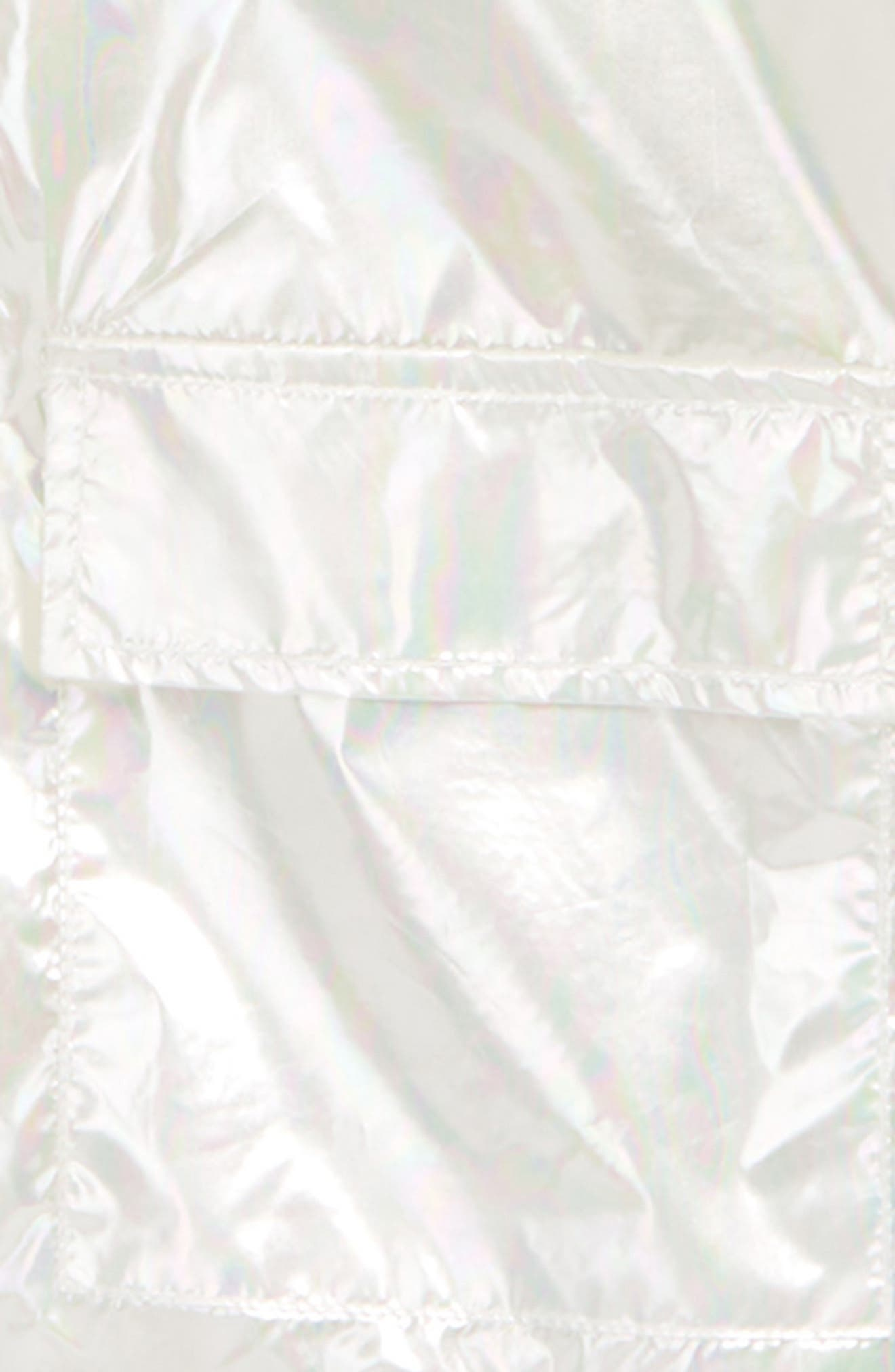 Iridescent Hooded Windbreaker,                             Alternate thumbnail 2, color,                             White