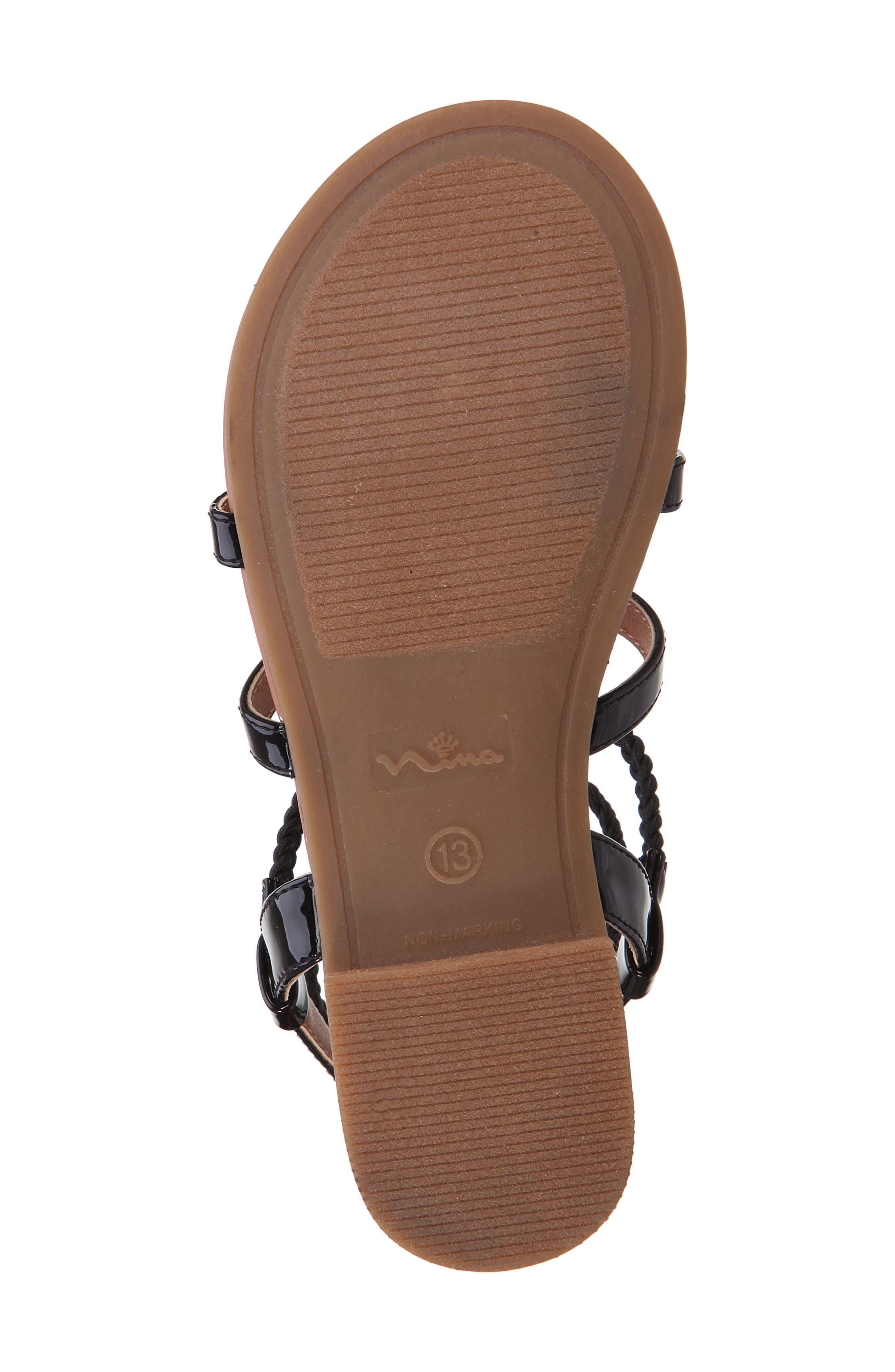 Margaree Gladiator Thong Sandal,                             Alternate thumbnail 6, color,                             Black Patent
