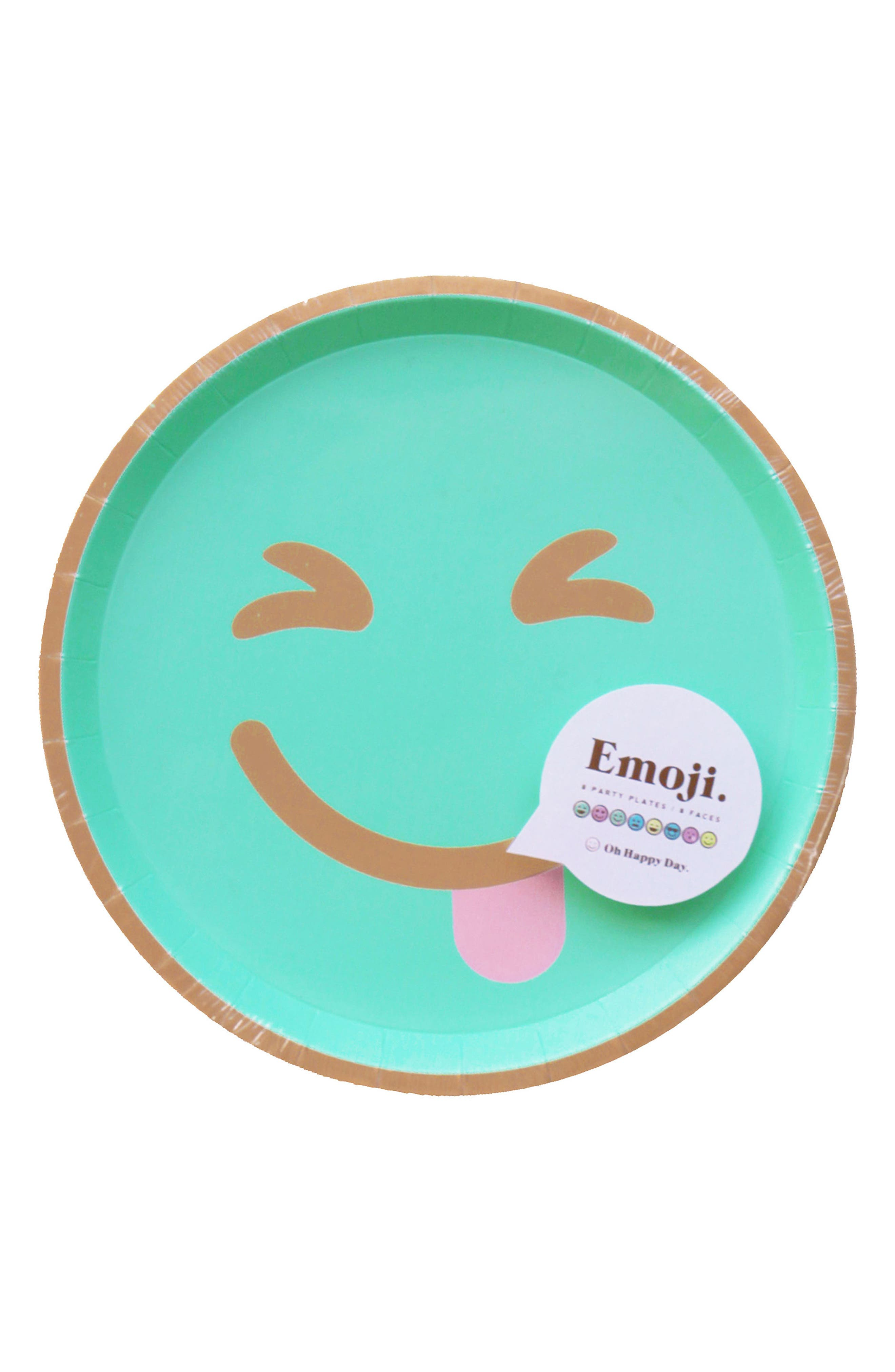 Oh Happy Day Set of 8 Emoji Paper Party Plates