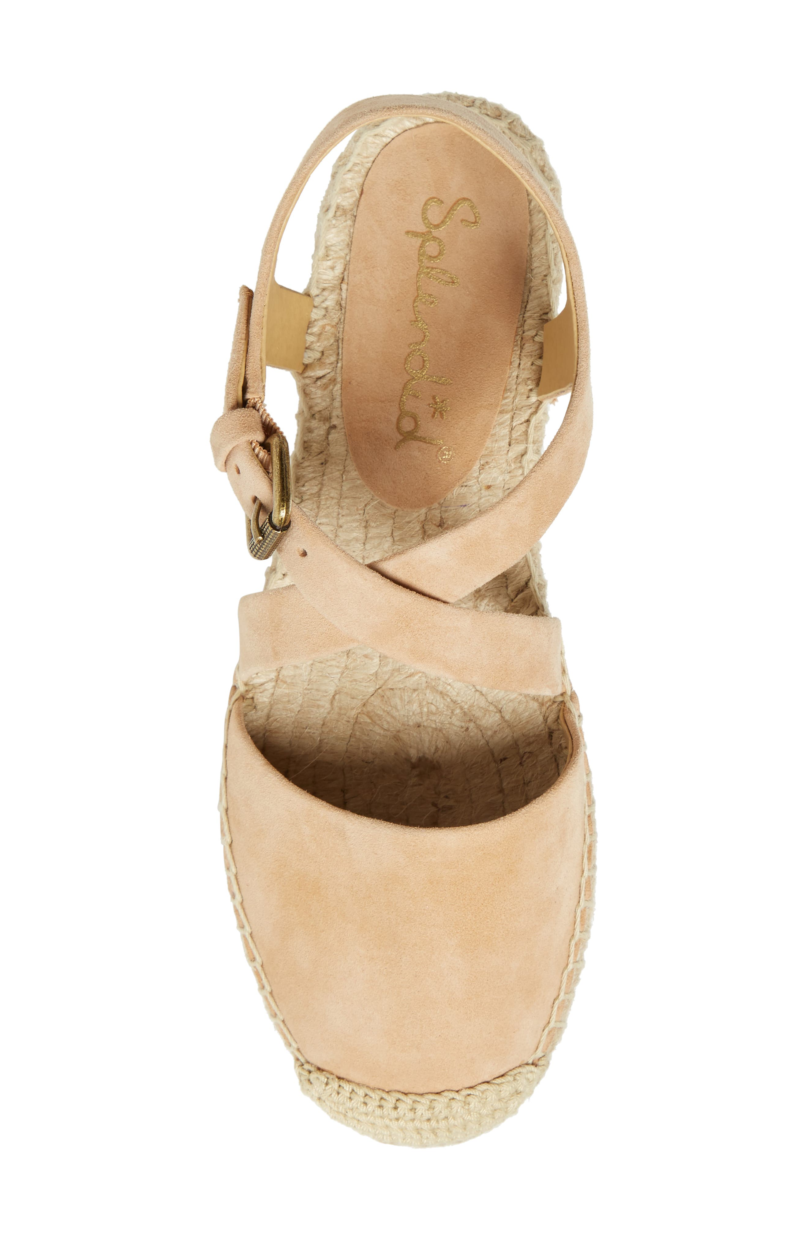 Foley Espadrille Flat,                             Alternate thumbnail 5, color,                             Nude Suede