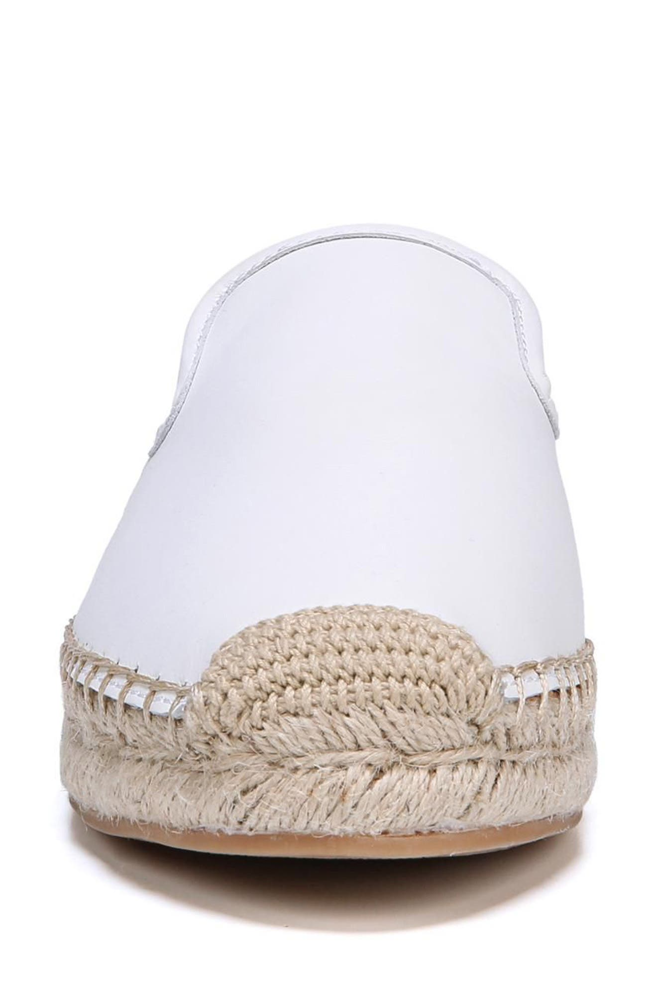 Kerry Espadrille Mule,                             Alternate thumbnail 4, color,                             Bright White Leather