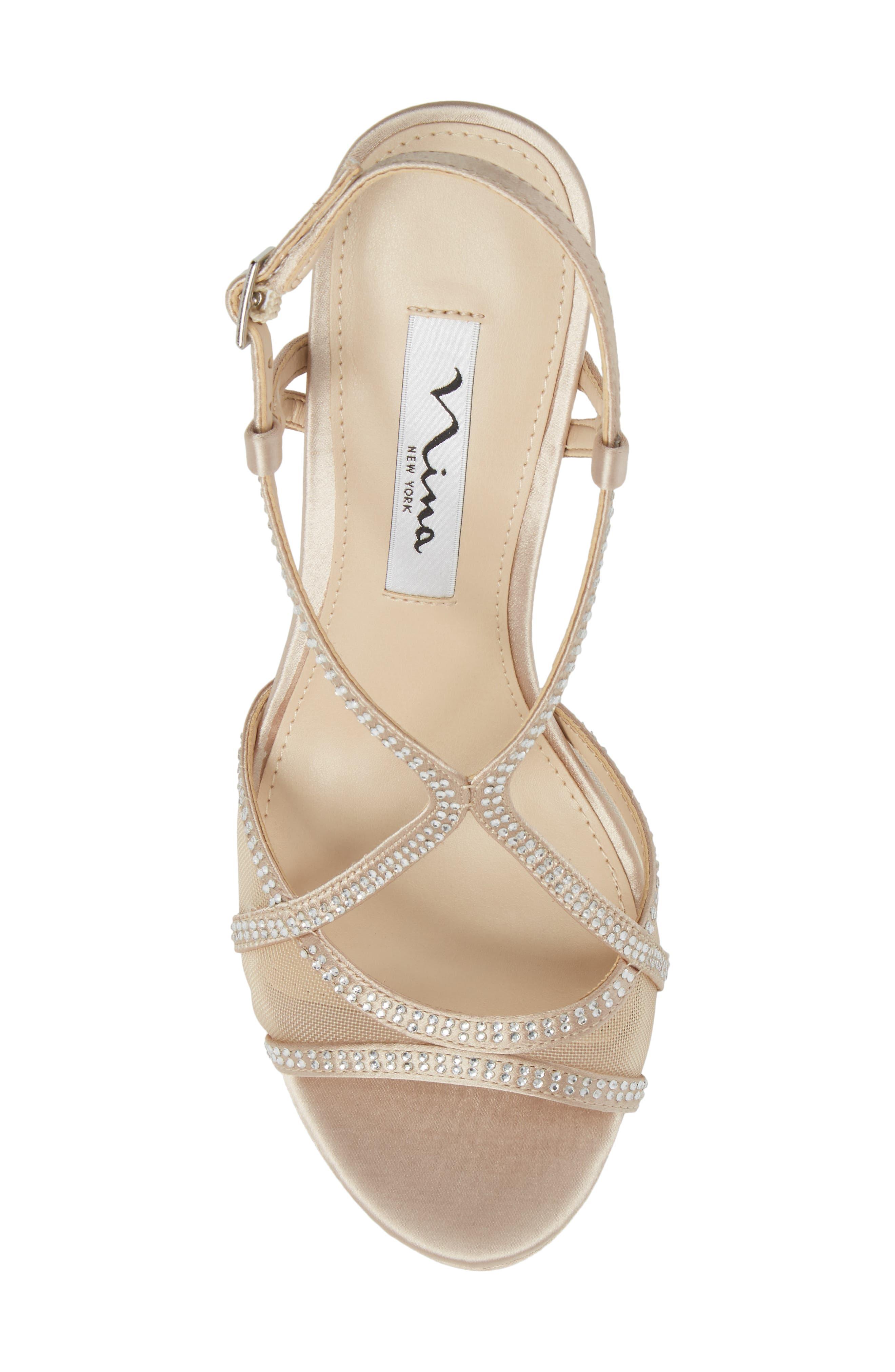 Alternate Image 5  - Nina Blossom Crystal Embellished Sandal (Women)