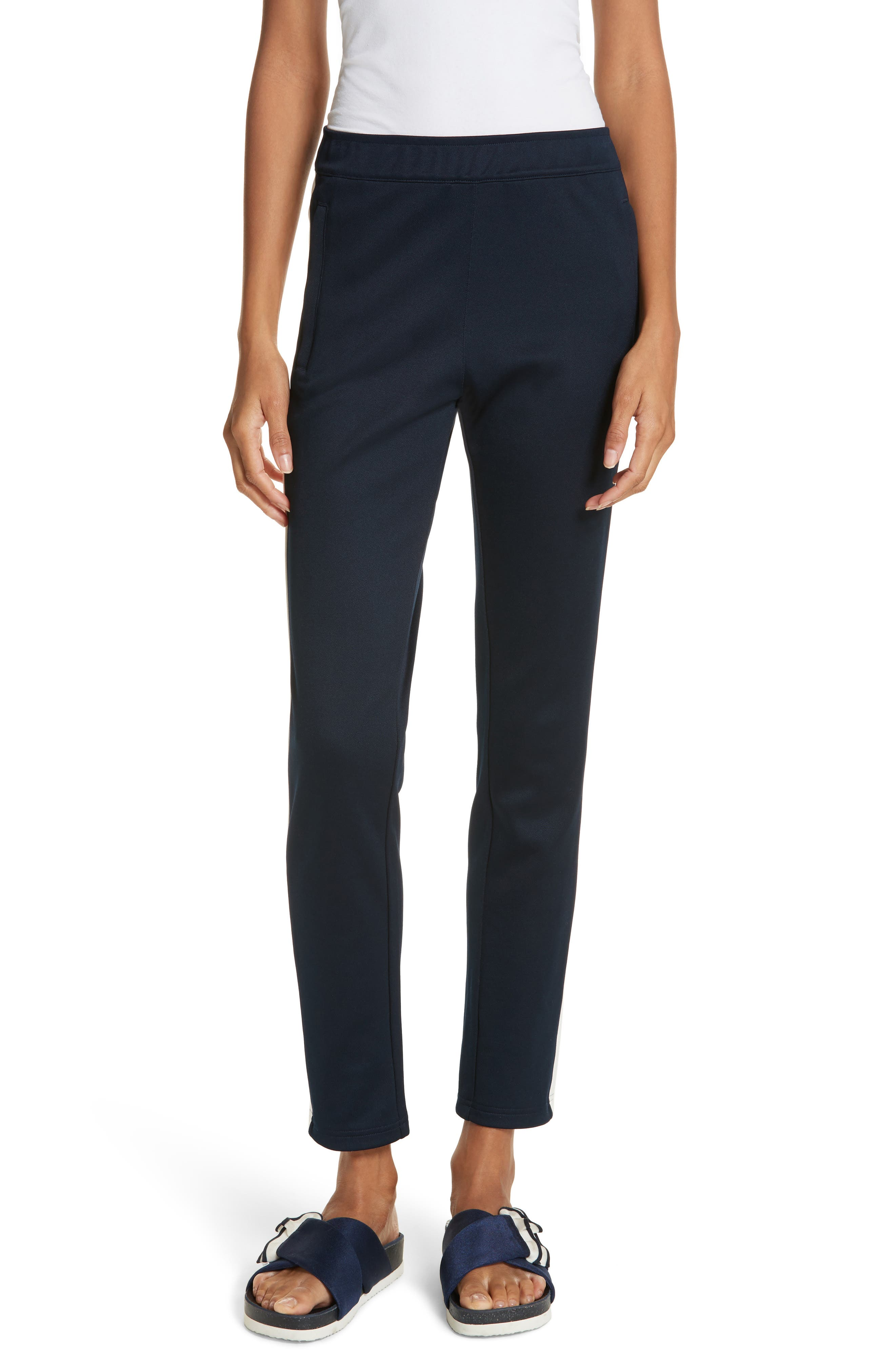 Colorblock Track Pants,                         Main,                         color, Tory Navy/ Snow White