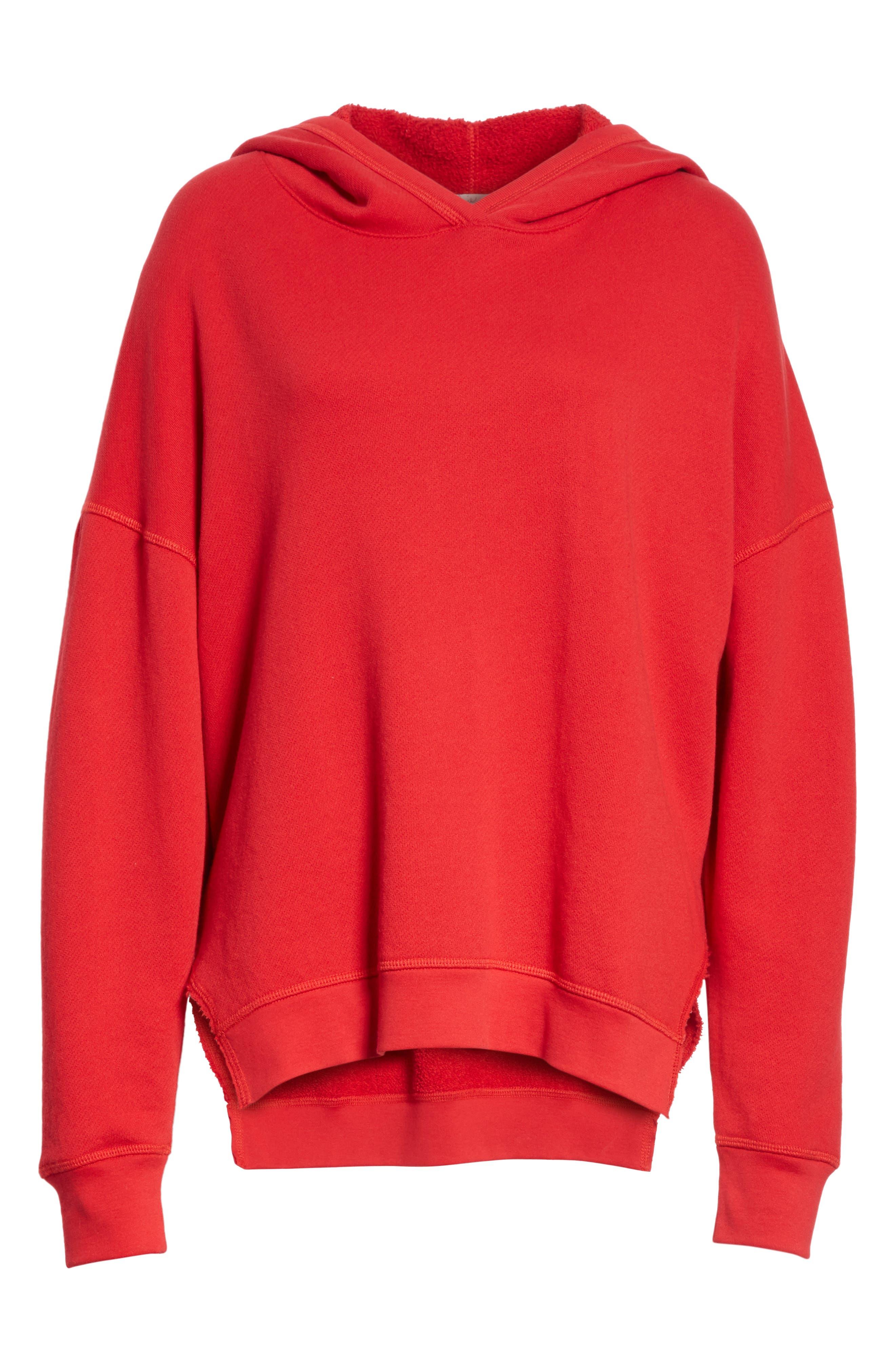 Adene Hooded Sweatshirt,                             Alternate thumbnail 6, color,                             Matador Red
