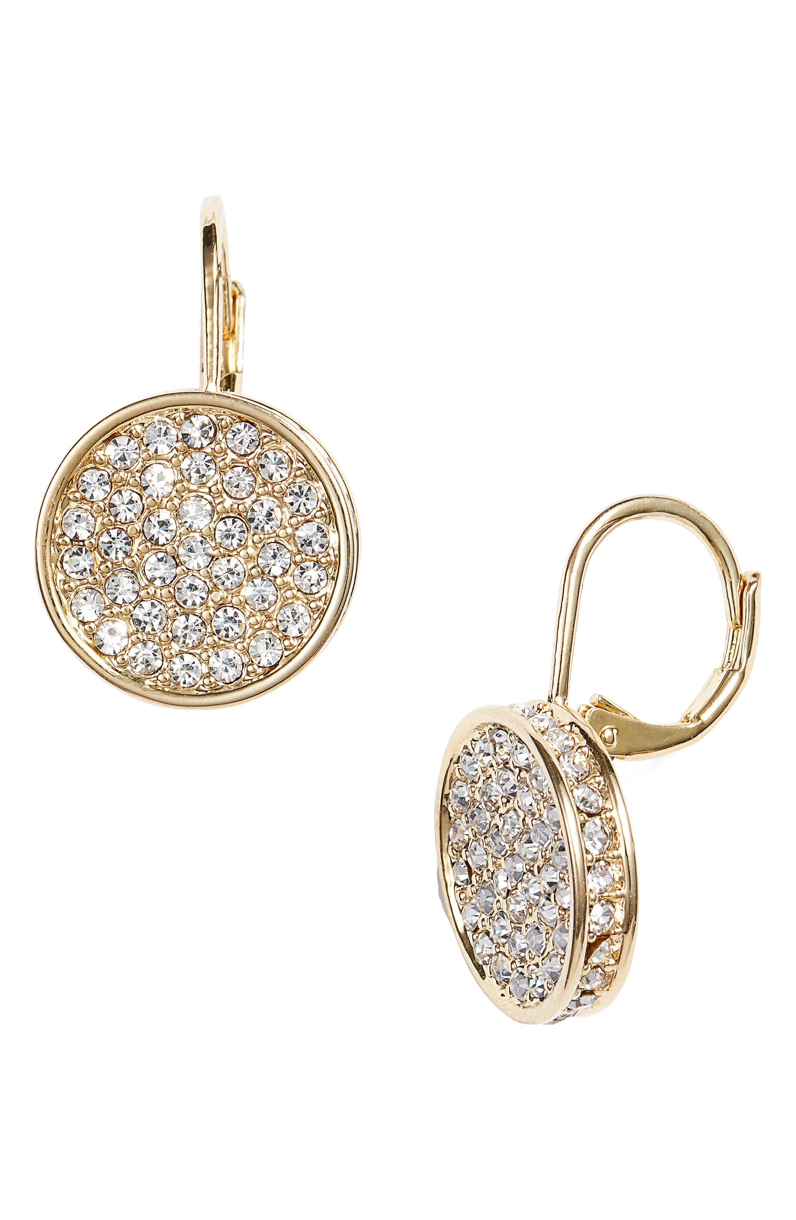 Main Image - Vince Camuto Crystal Glitter Earrings