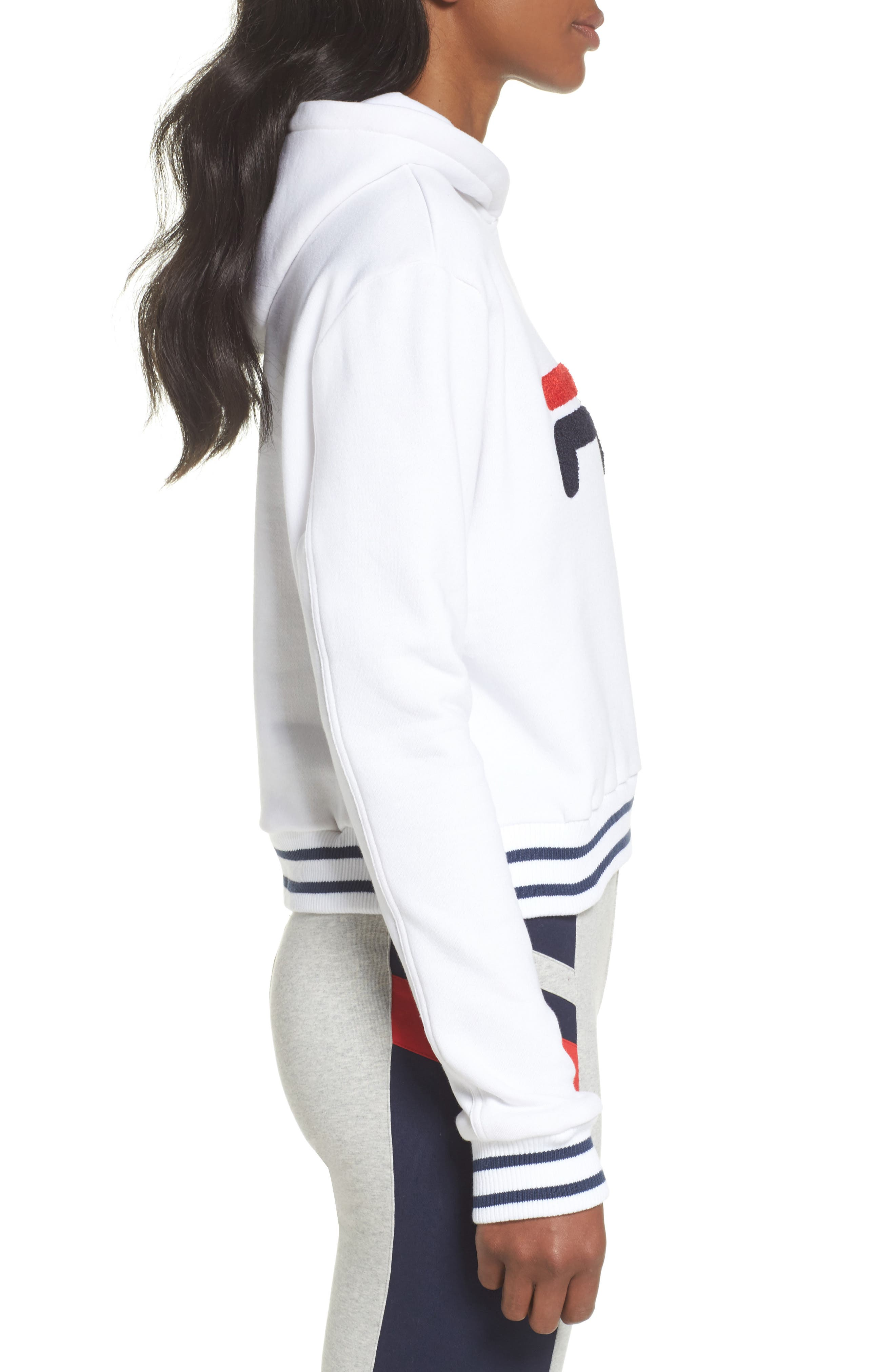 Rosemary Hoodie,                             Alternate thumbnail 3, color,                             White/ Peacoat/ Chinese Red
