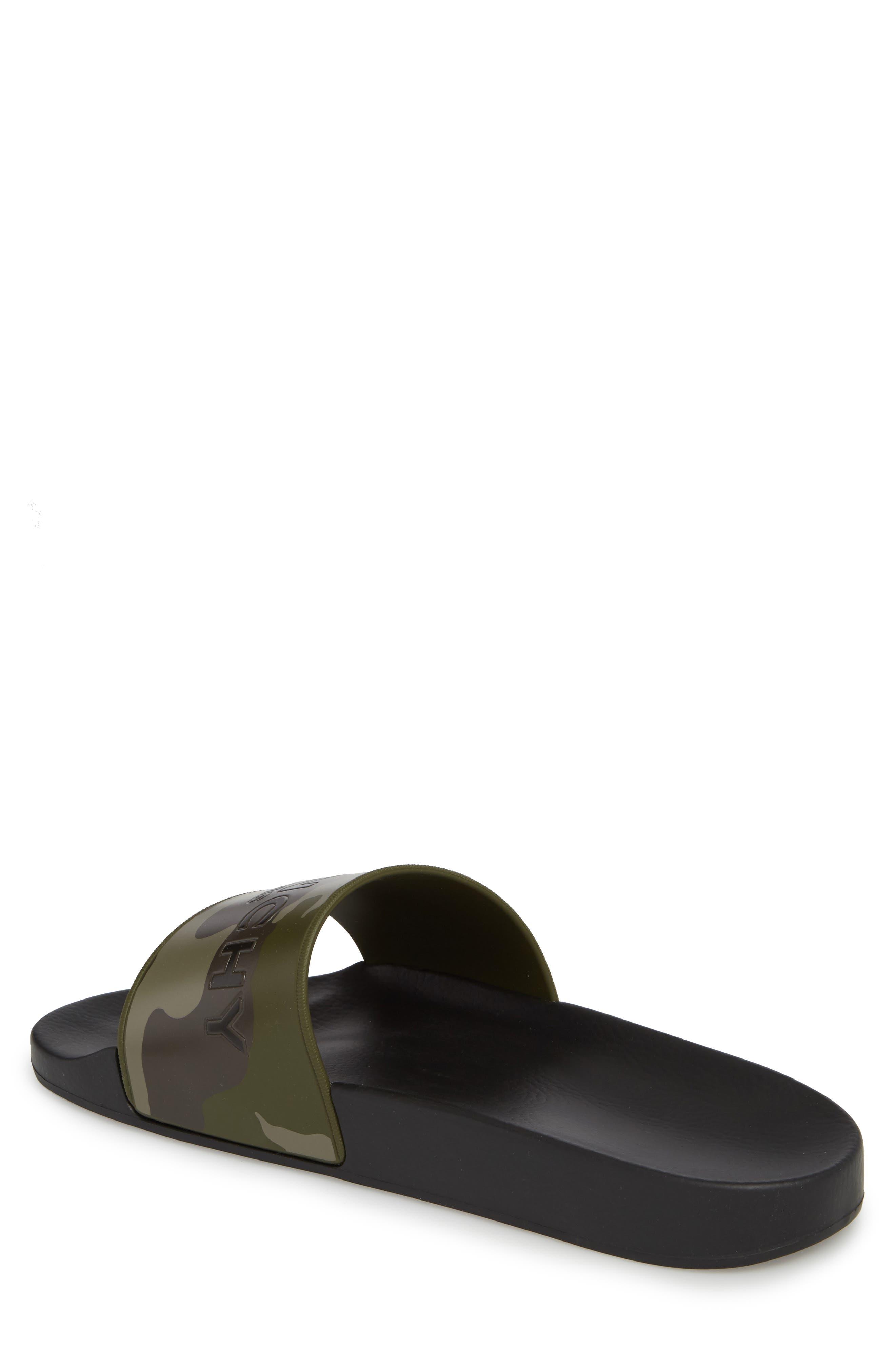 Camo Logo Pool Sandal,                             Alternate thumbnail 2, color,                             Black/ Khaki