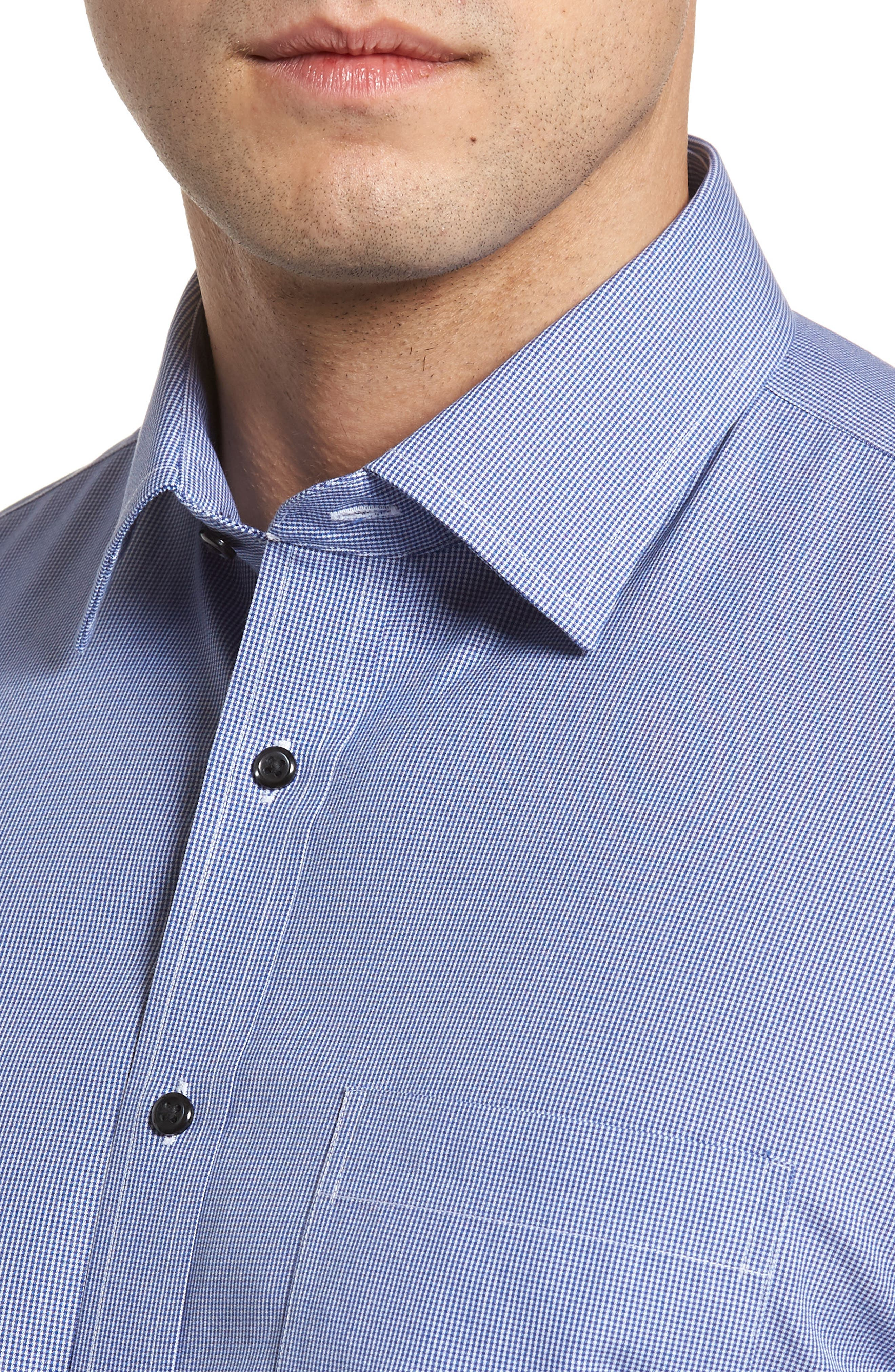 Smartcare<sup>™</sup> Traditional Fit Micro Check Dress Shirt,                             Alternate thumbnail 2, color,                             Blue Marine